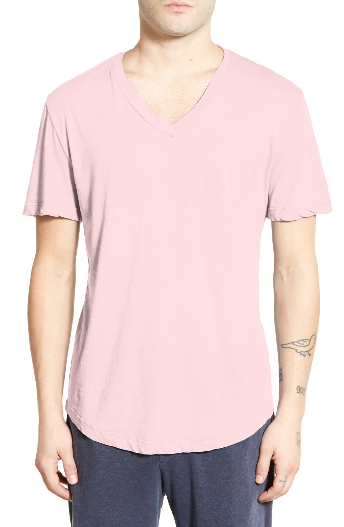 'Clear Jersey' Mélange V-Neck T-Shirt,                             Main thumbnail 11, color,