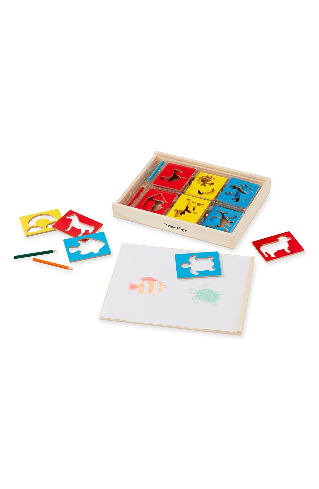 Wooden Stencil Box,                             Main thumbnail 1, color,                             200
