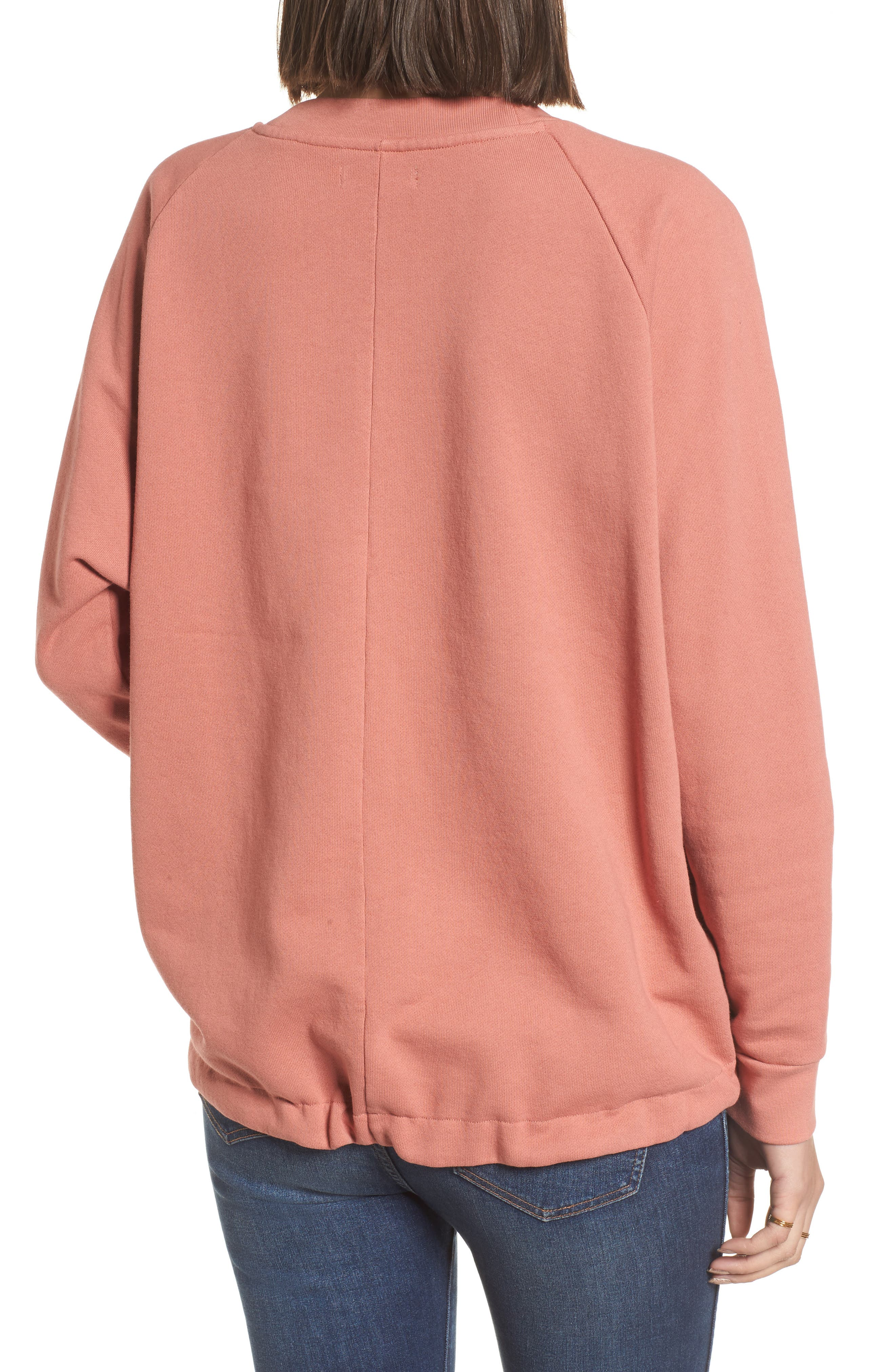 Drawstring Sweatshirt,                             Alternate thumbnail 4, color,