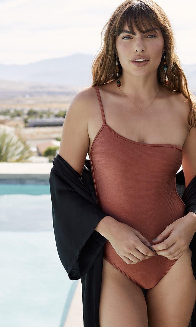 Women's vacation swimwear and cover-ups.