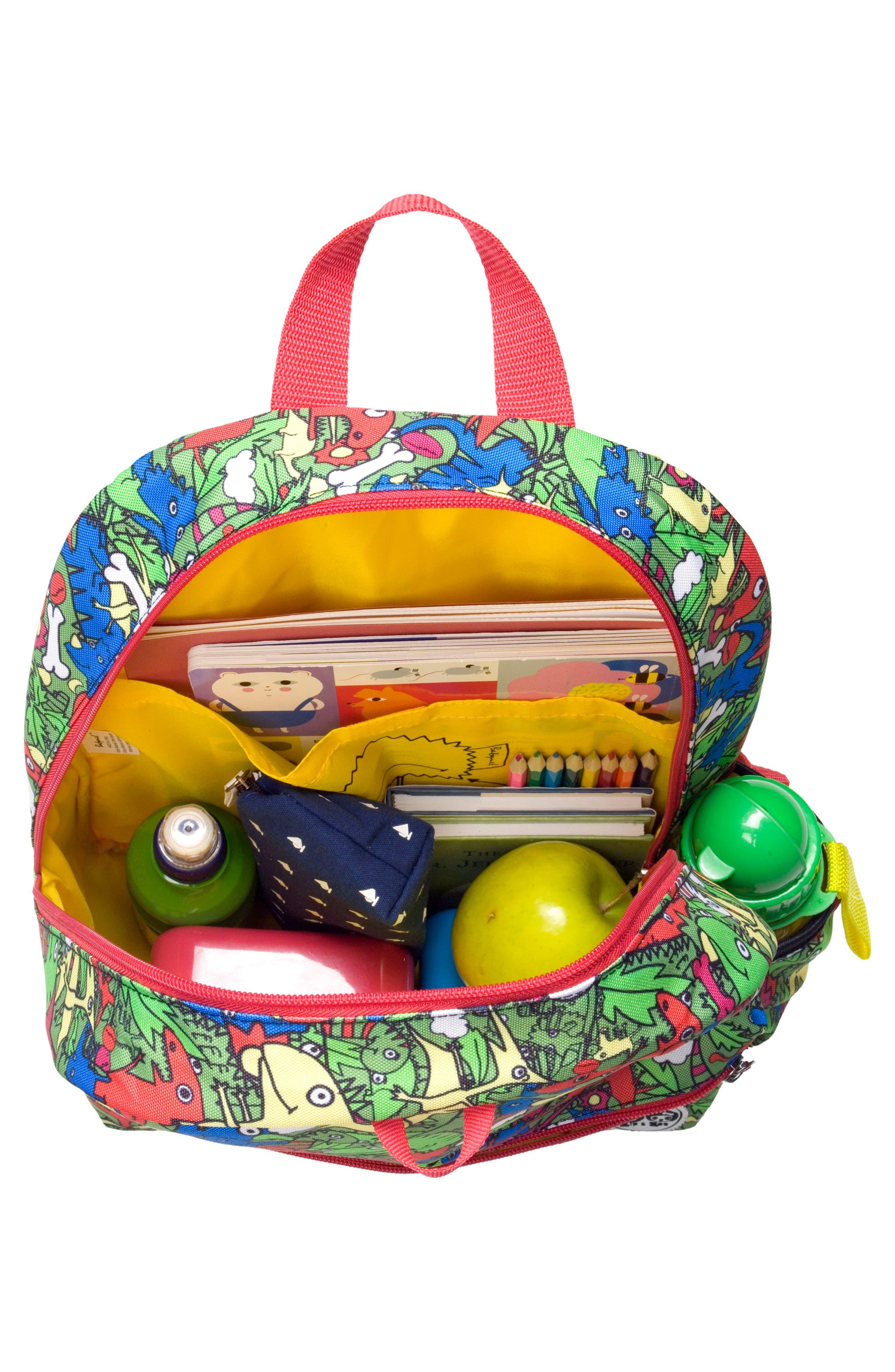Zip & Zoe Dino Junior Backpack,                             Alternate thumbnail 9, color,                             DINO