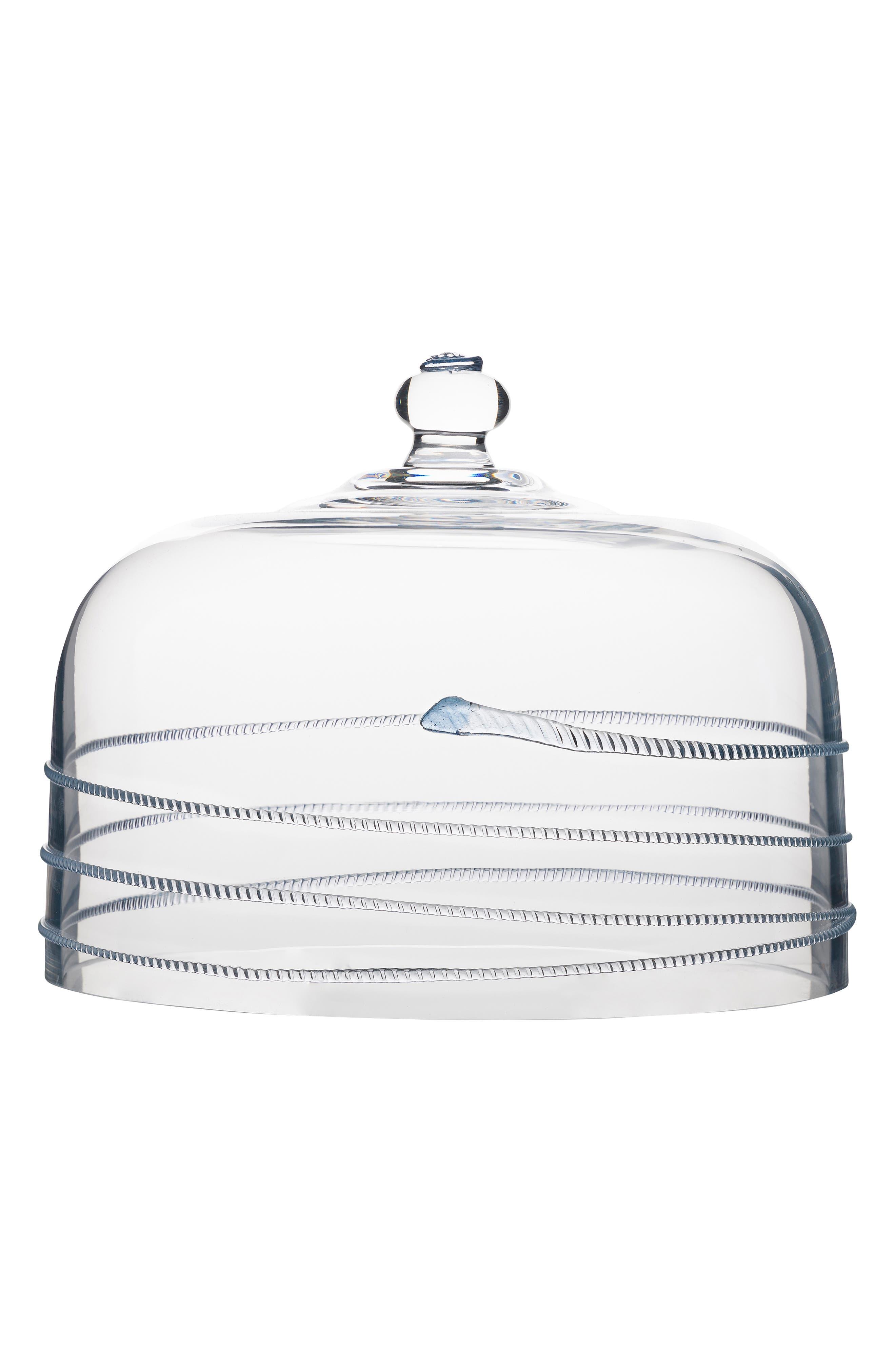 JULISKA Amalia Glass Cake Dome, Main, color, CLEAR