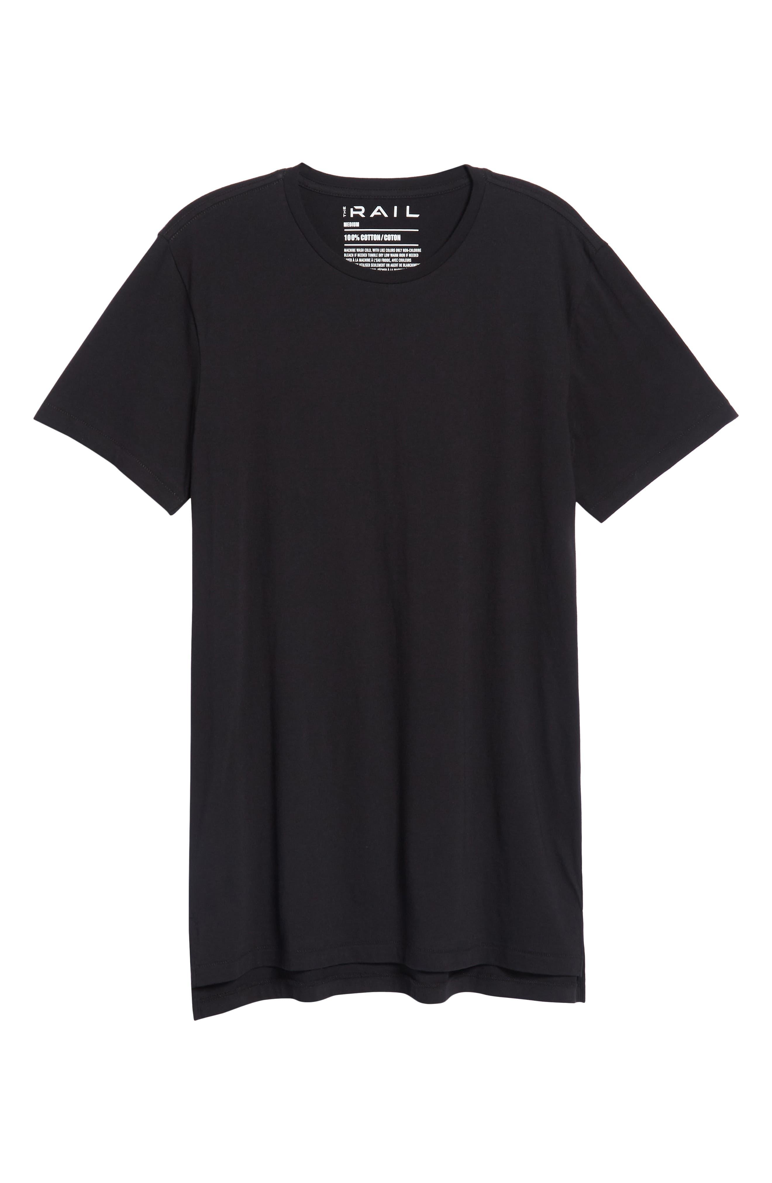 Longline T-Shirt,                             Alternate thumbnail 6, color,                             001