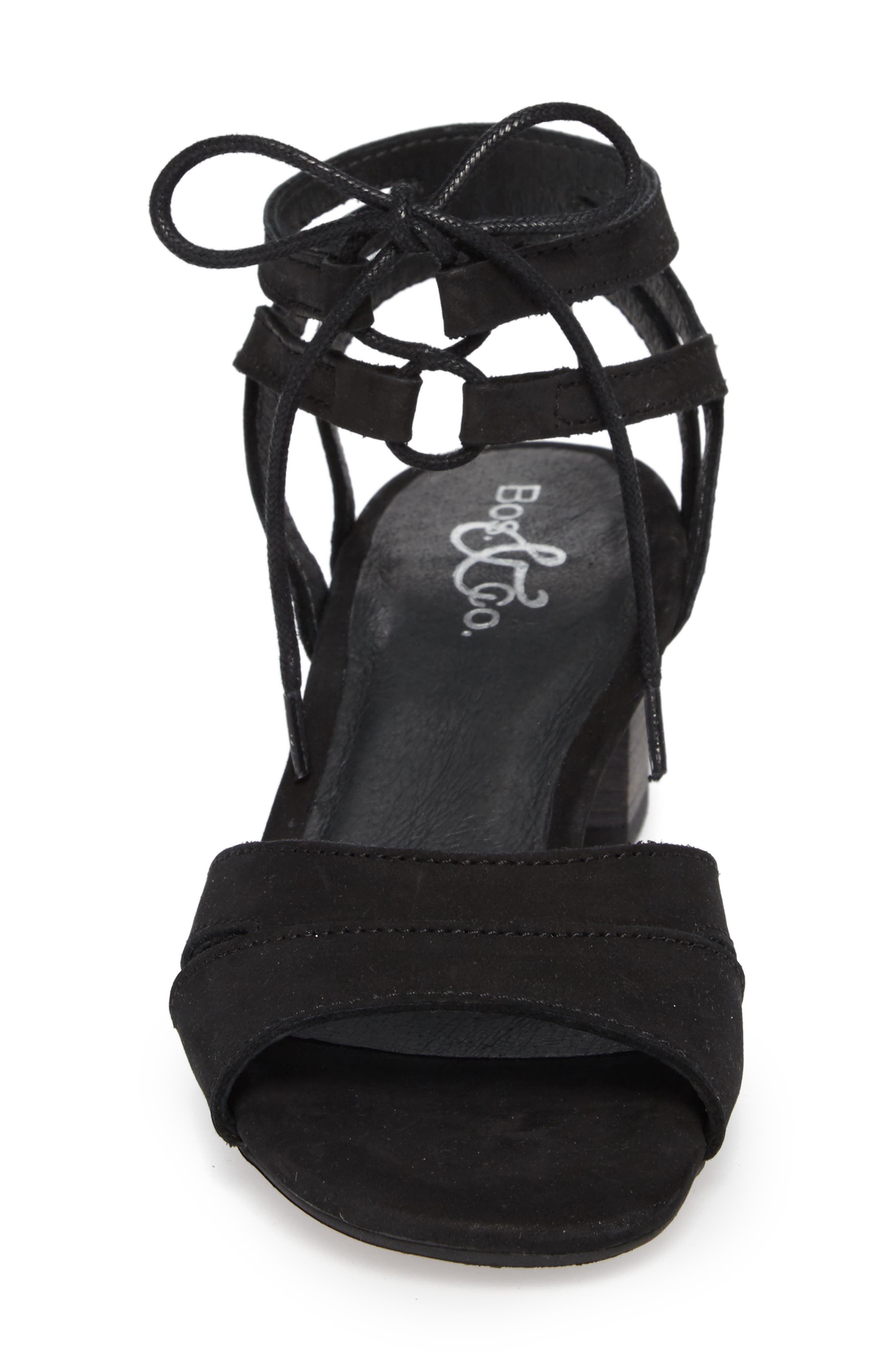 Zorita Sandal,                             Alternate thumbnail 4, color,                             BLACK NUBUCK LEATHER