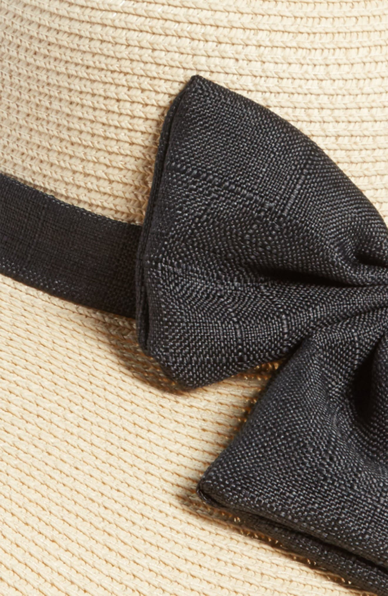 Oversize Bow Floppy Straw Hat,                             Alternate thumbnail 2, color,                             250