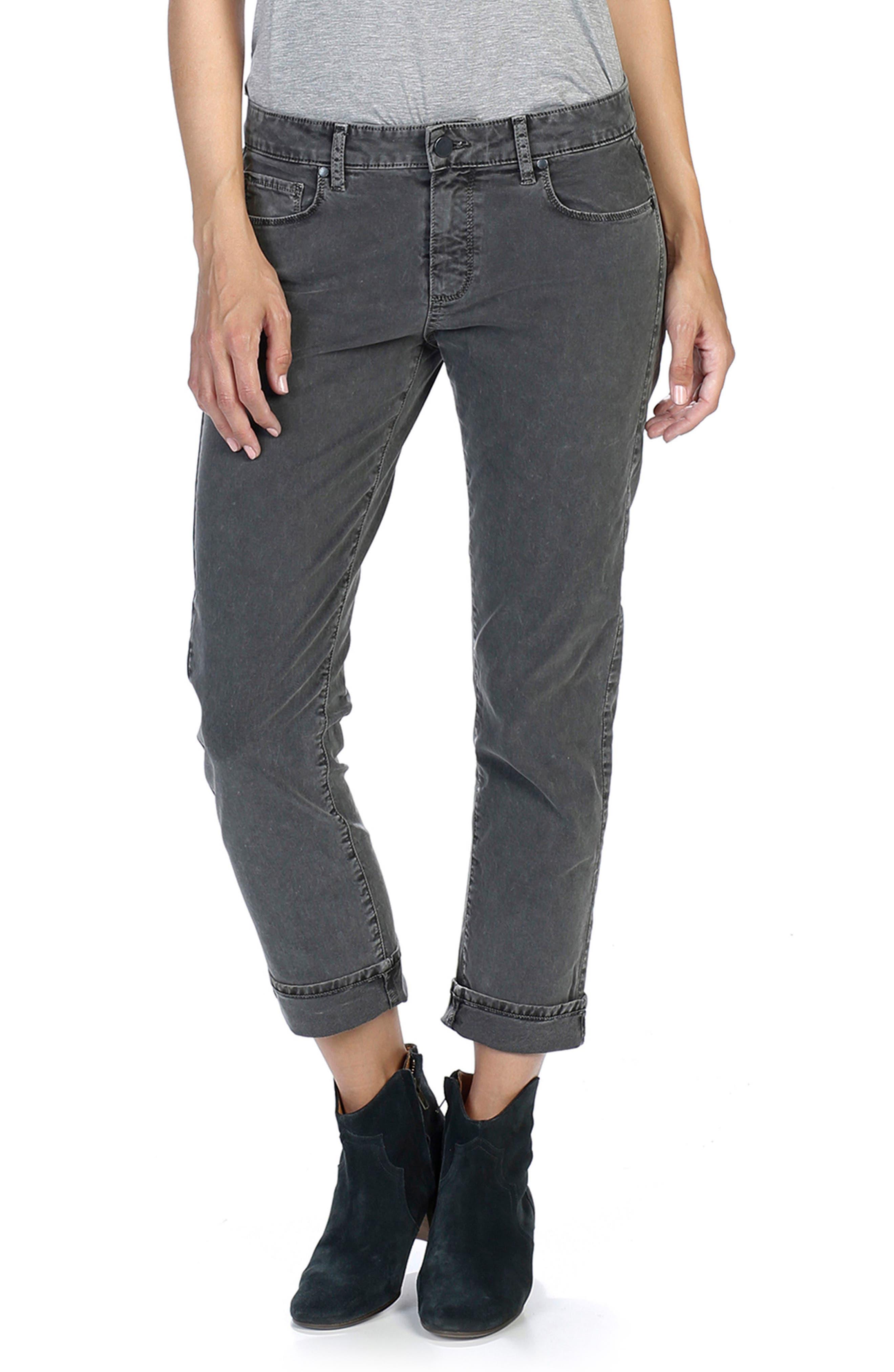 Brigitte Crop Boyfriend Jeans,                             Alternate thumbnail 4, color,