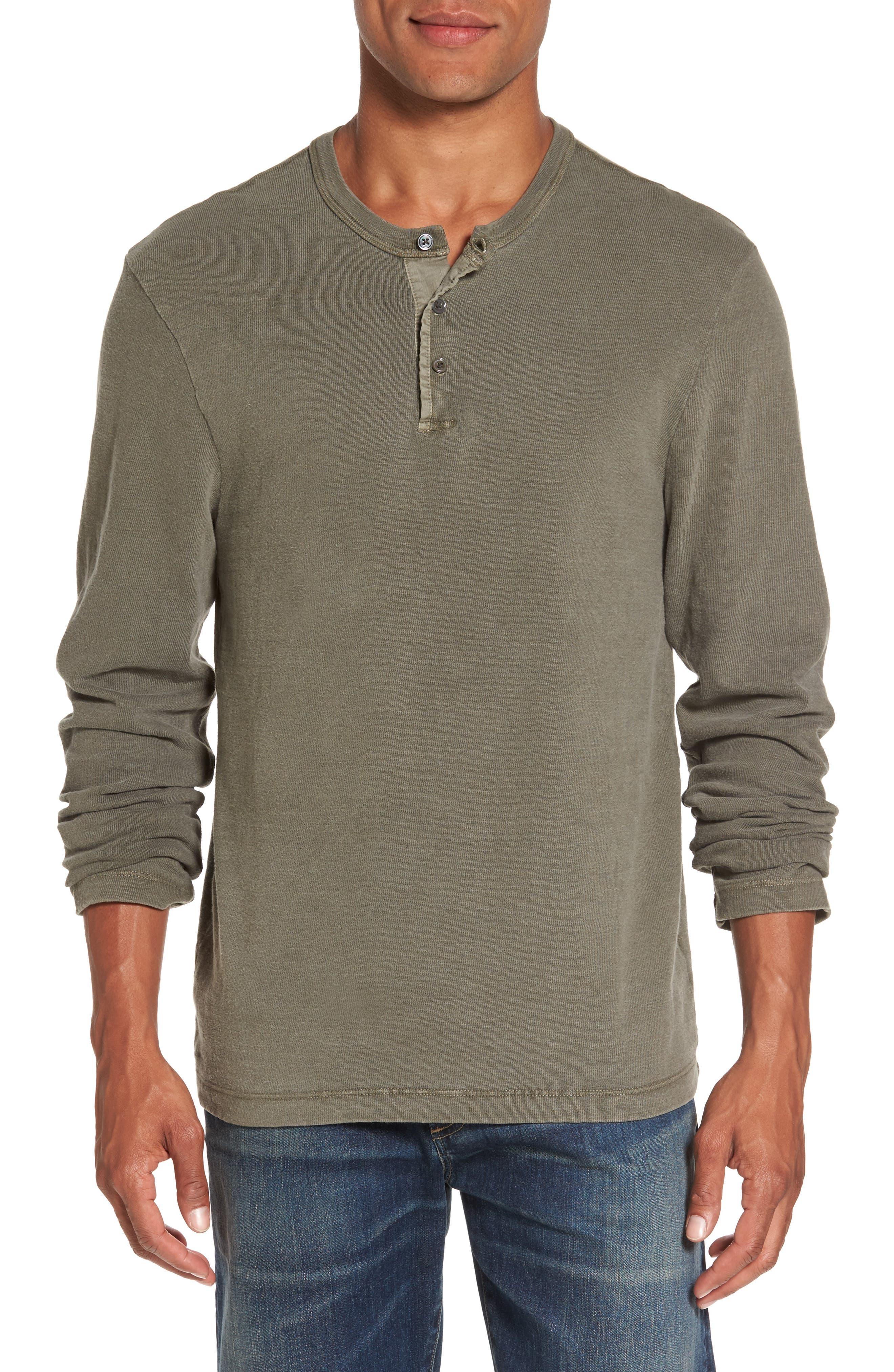 Long Sleeve Henley T-Shirt,                             Main thumbnail 2, color,