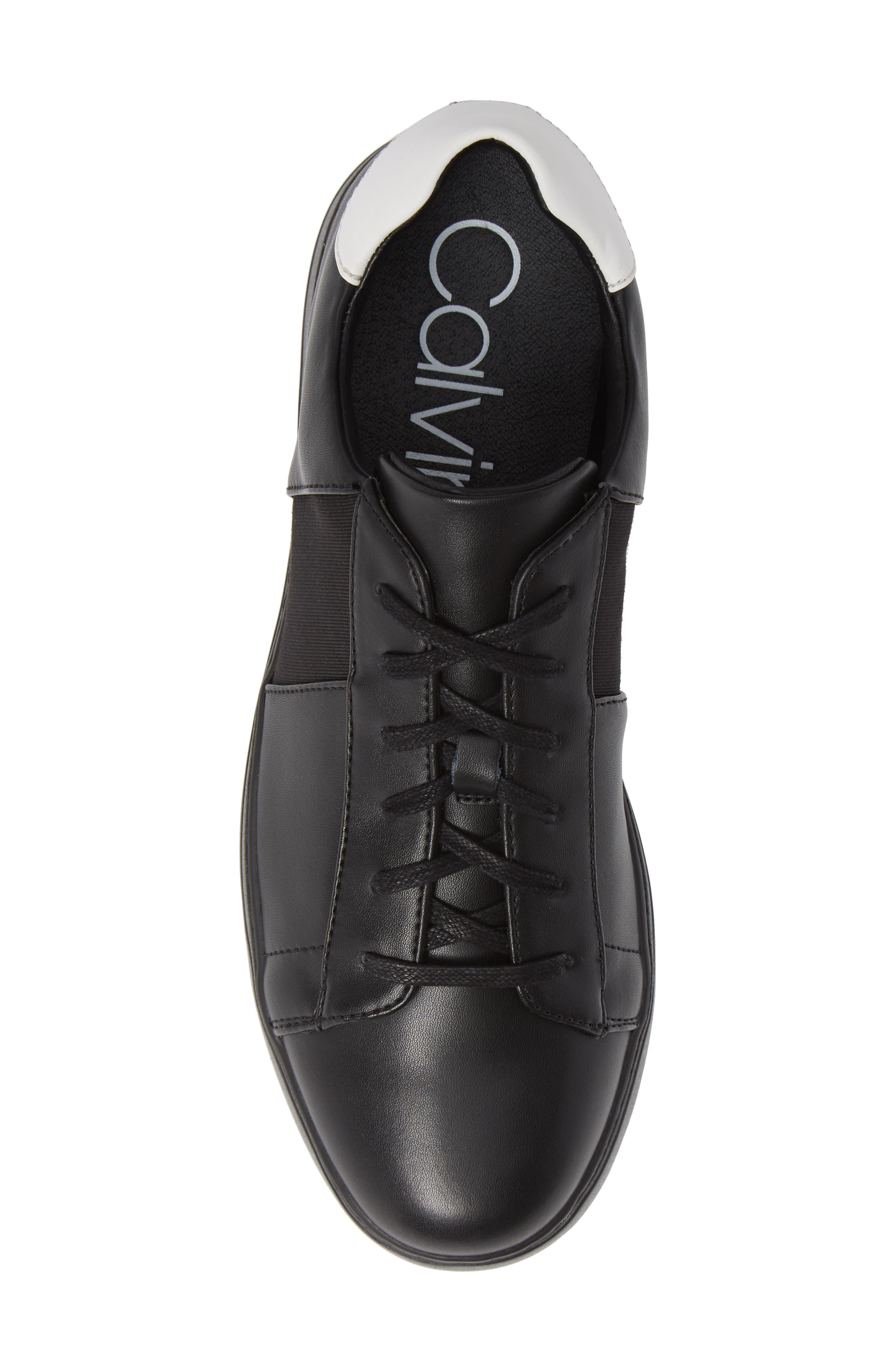 Sammy 2 Sneaker,                             Alternate thumbnail 5, color,                             BLACK LEATHER