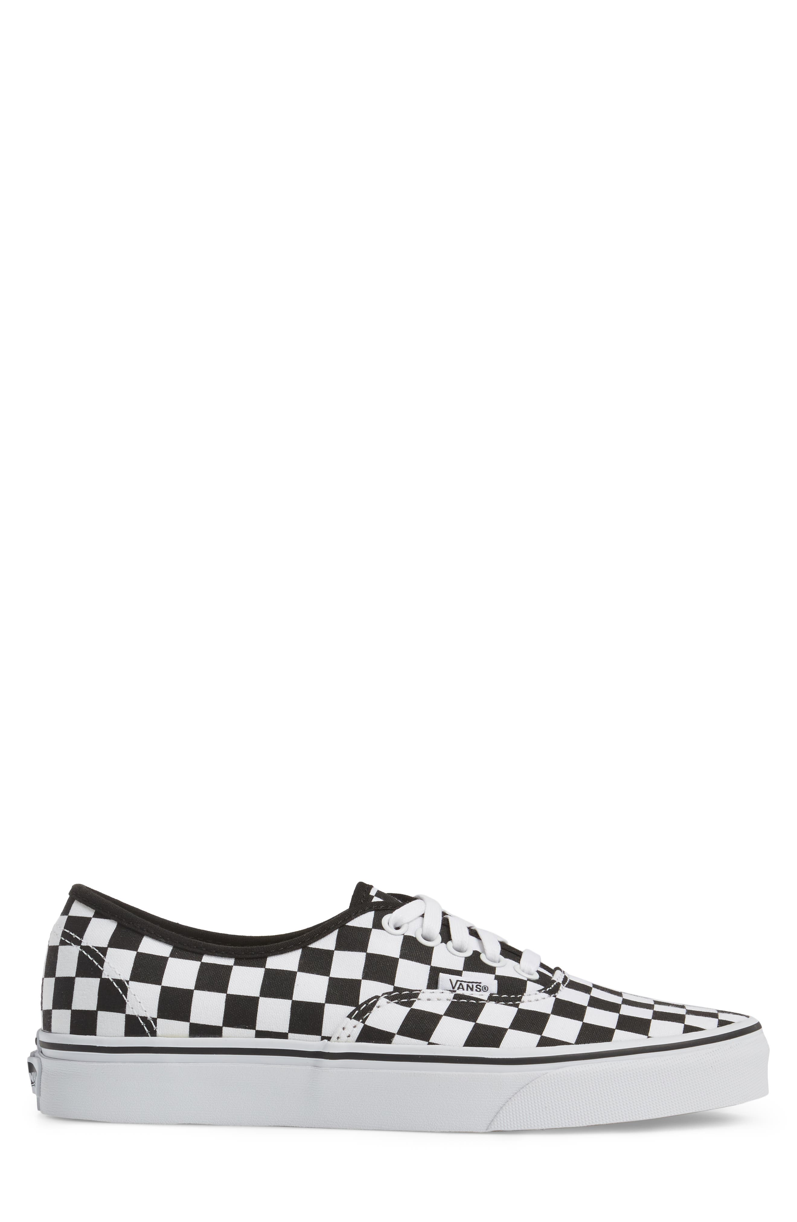 Authentic Sneaker,                             Alternate thumbnail 3, color,                             BLACK/ WHITE CHECKERBOARD