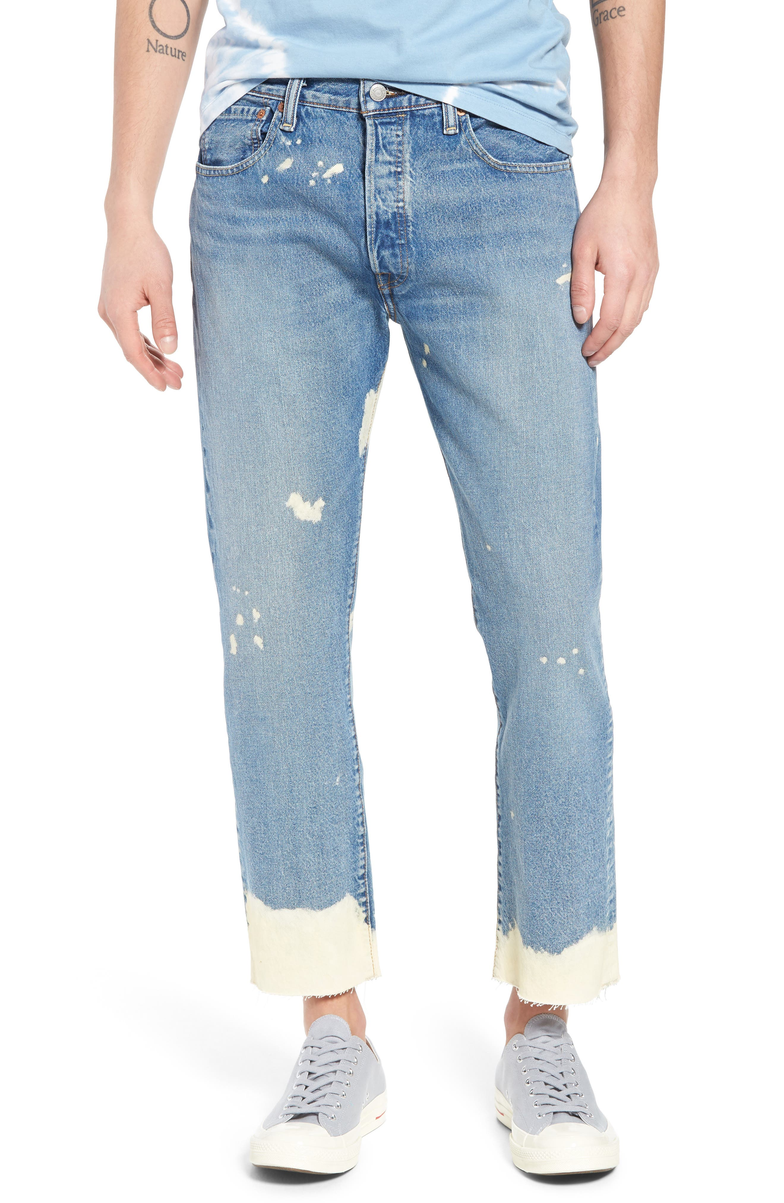 LEVI'S<SUP>®</SUP>,                             501<sup>®</sup> Original Straight Leg Cutoff Jeans,                             Main thumbnail 1, color,                             421