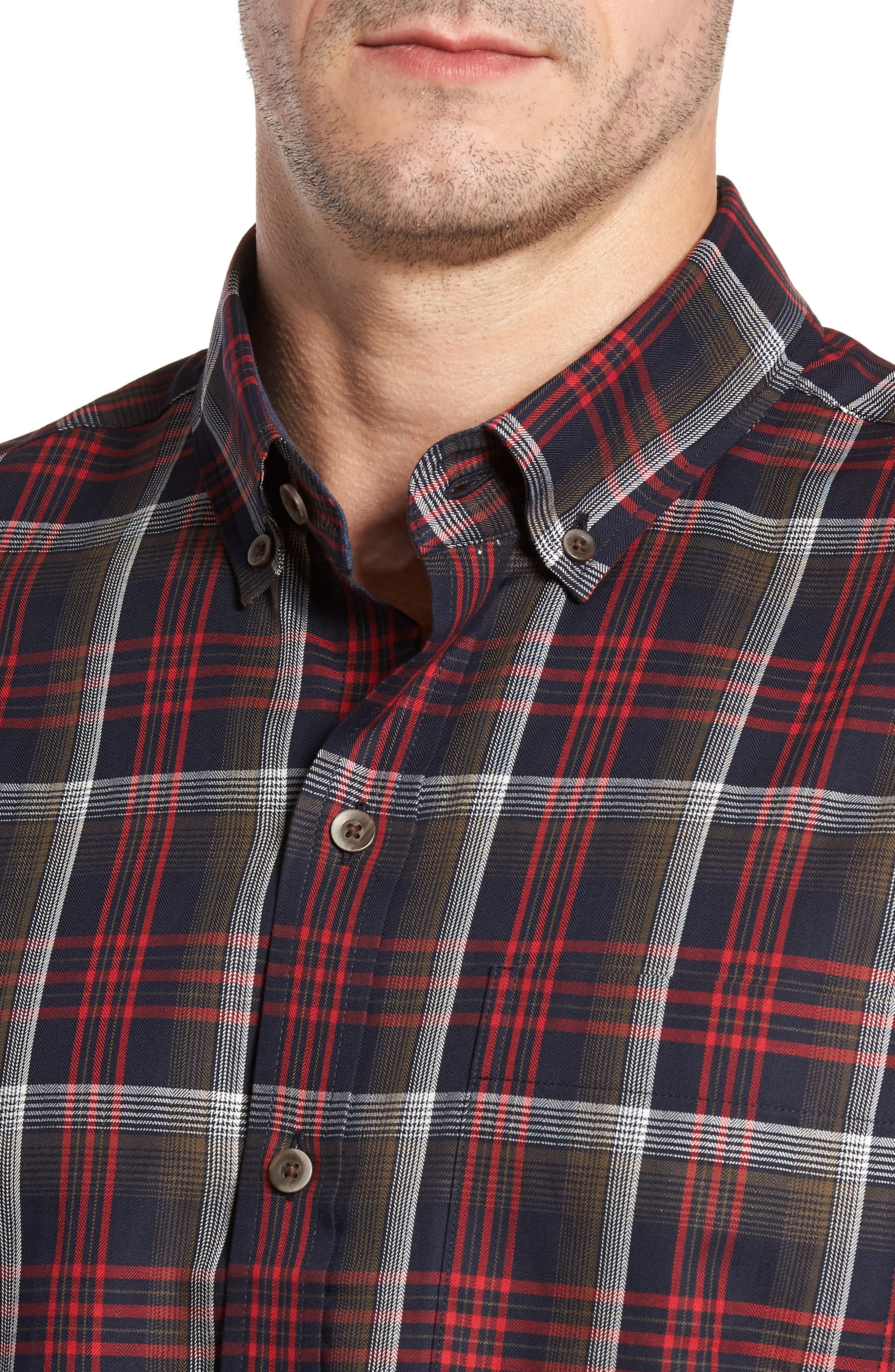 Dry Creek Non-Iron Plaid Sport Shirt,                             Alternate thumbnail 4, color,                             622
