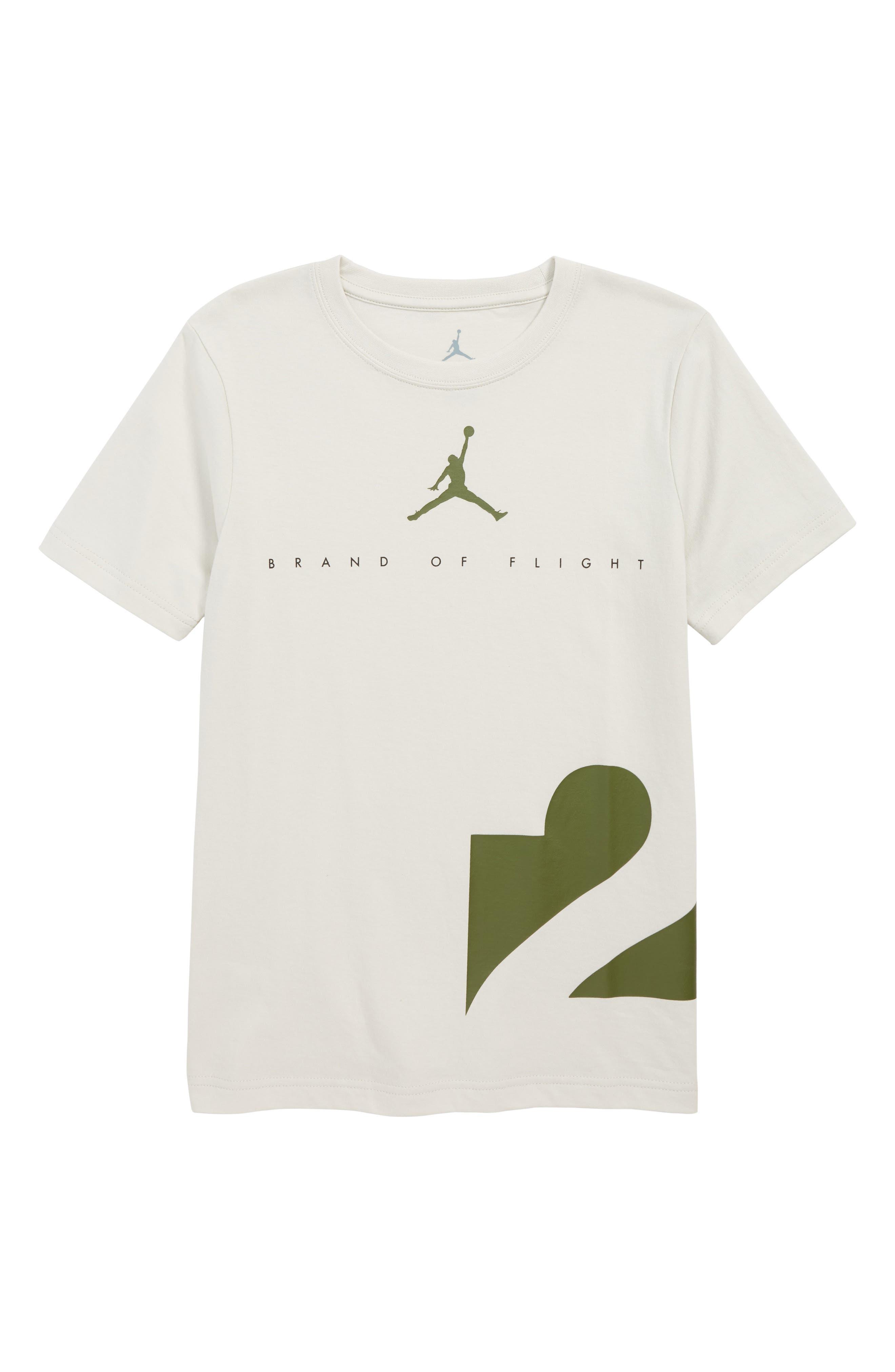 Jordan Two Three T-Shirt,                             Main thumbnail 1, color,                             LT BONE