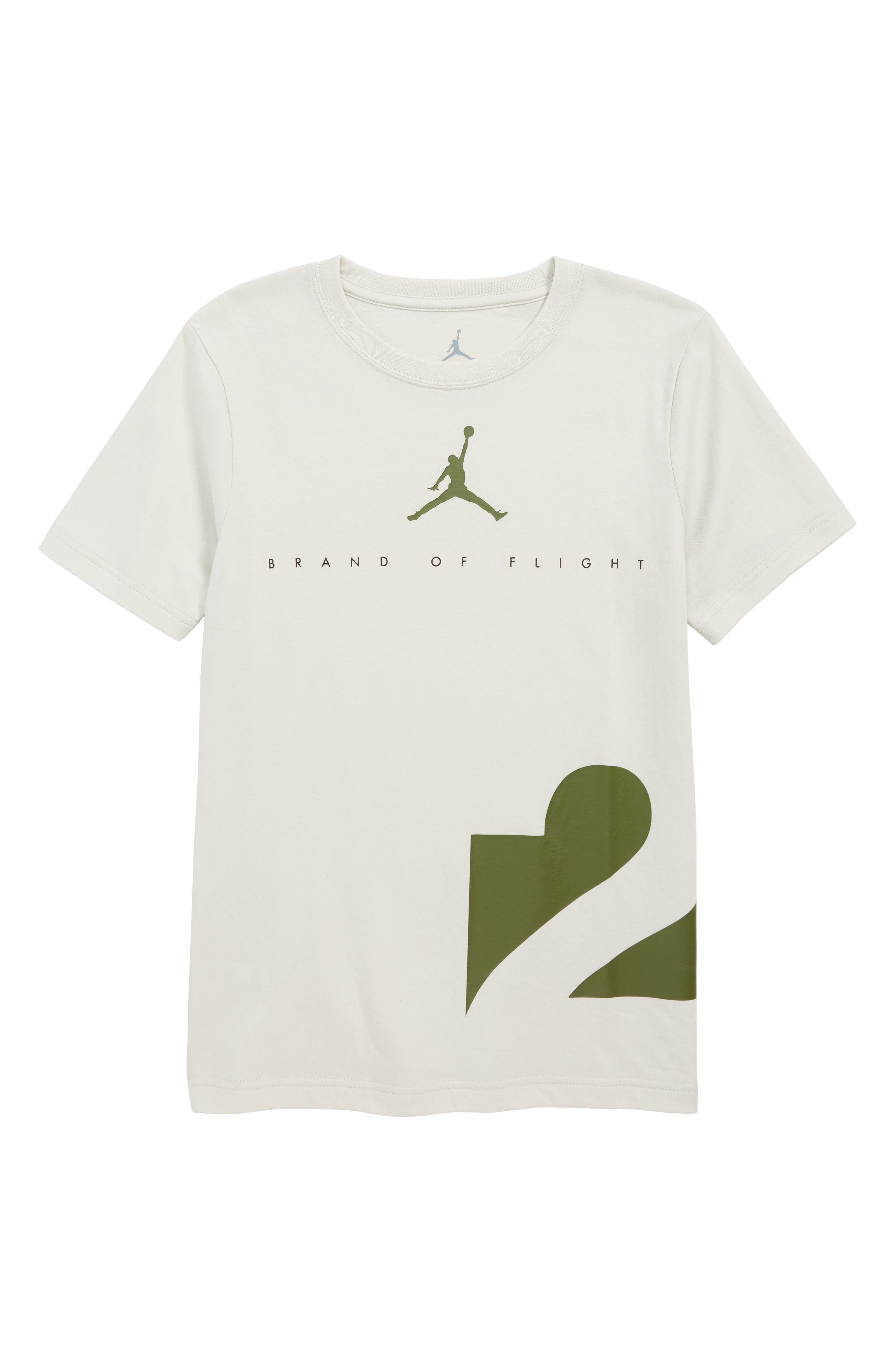 Jordan Two Three T-Shirt,                         Main,                         color, LT BONE