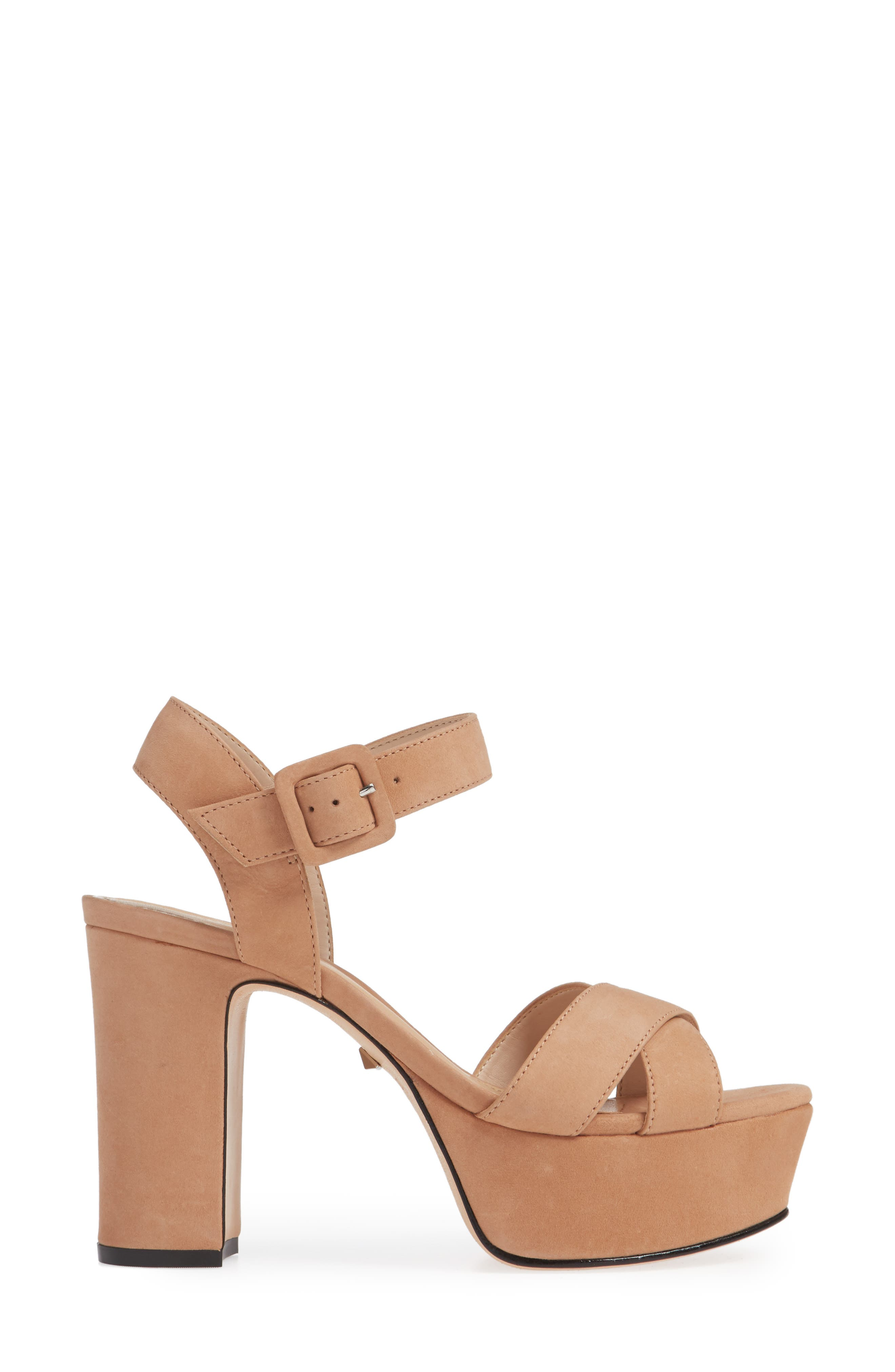 Tulia Sandal,                             Alternate thumbnail 3, color,                             HONEY BEIGE NUBUCK