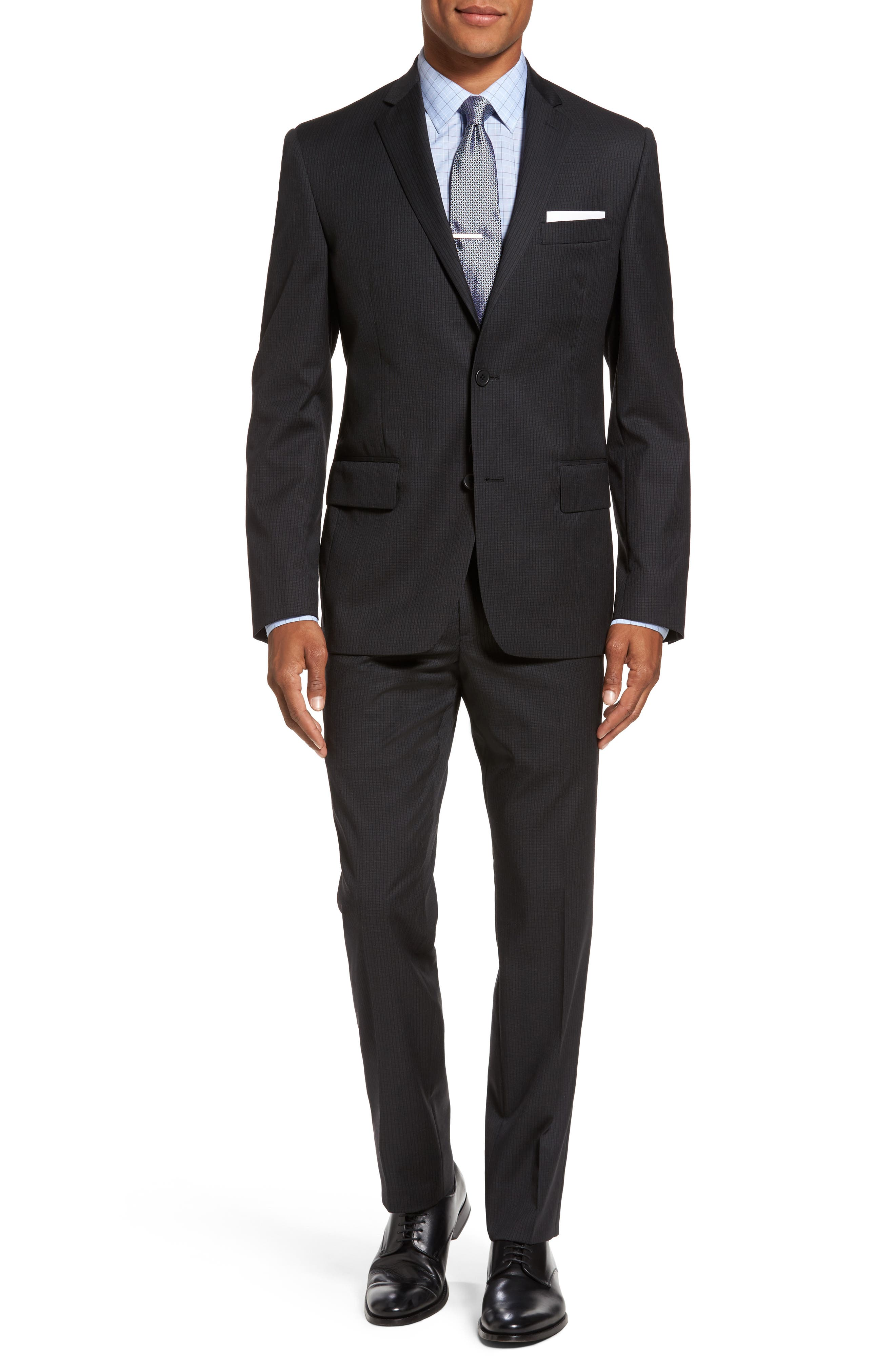 Classic Fit Check Wool Suit,                         Main,                         color, 001