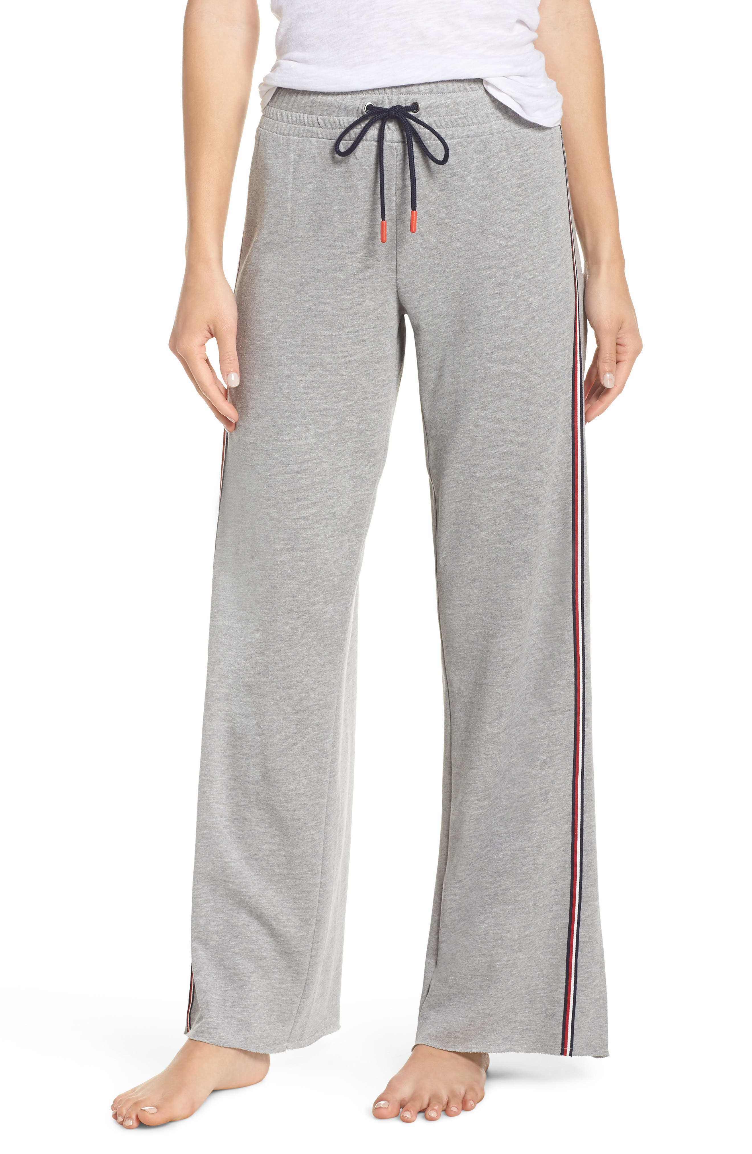 Boyfriend Lounge Pants,                         Main,                         color, HEATHER GREY