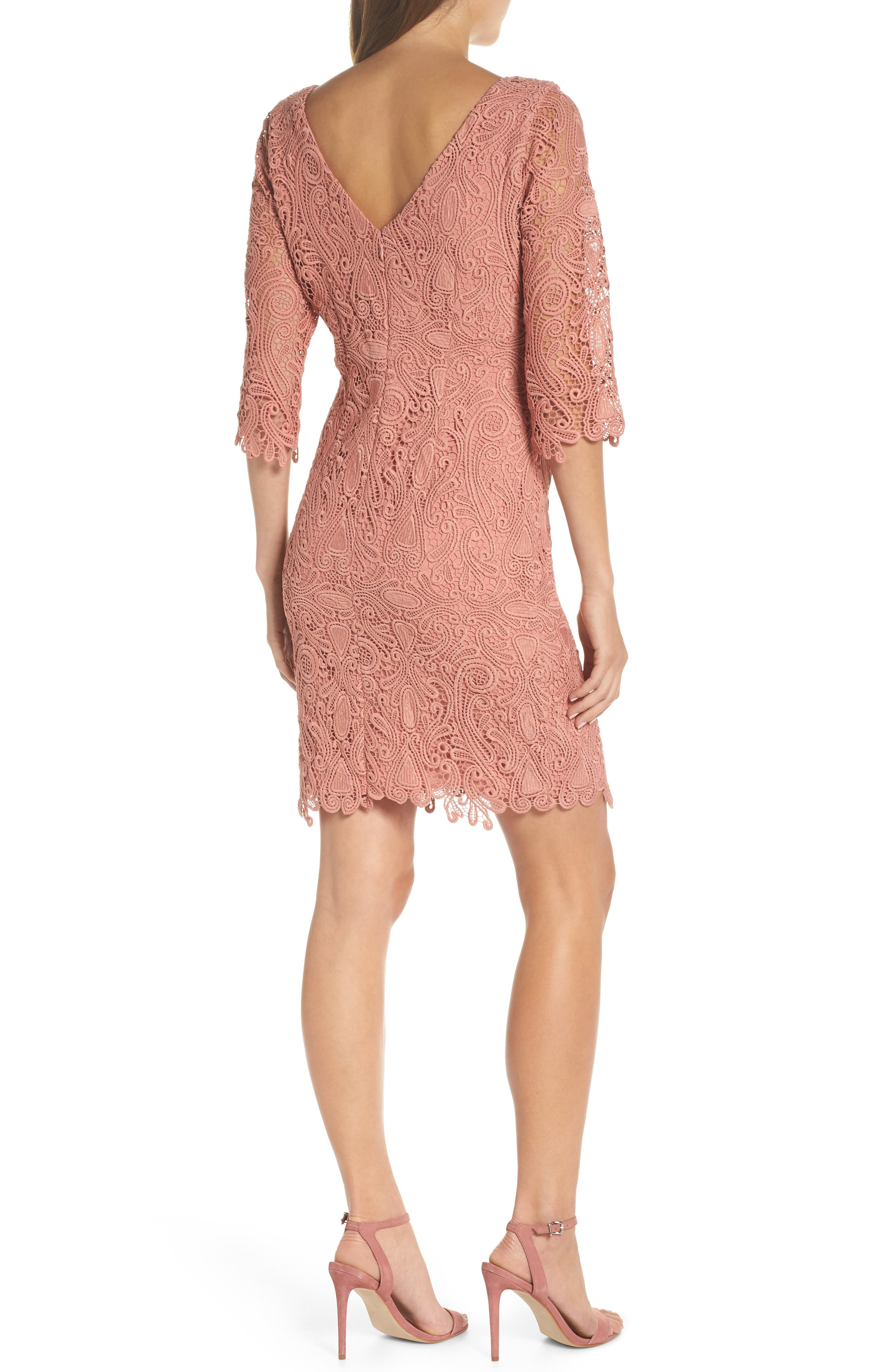 Lace Sheath Dress,                             Alternate thumbnail 2, color,                             951