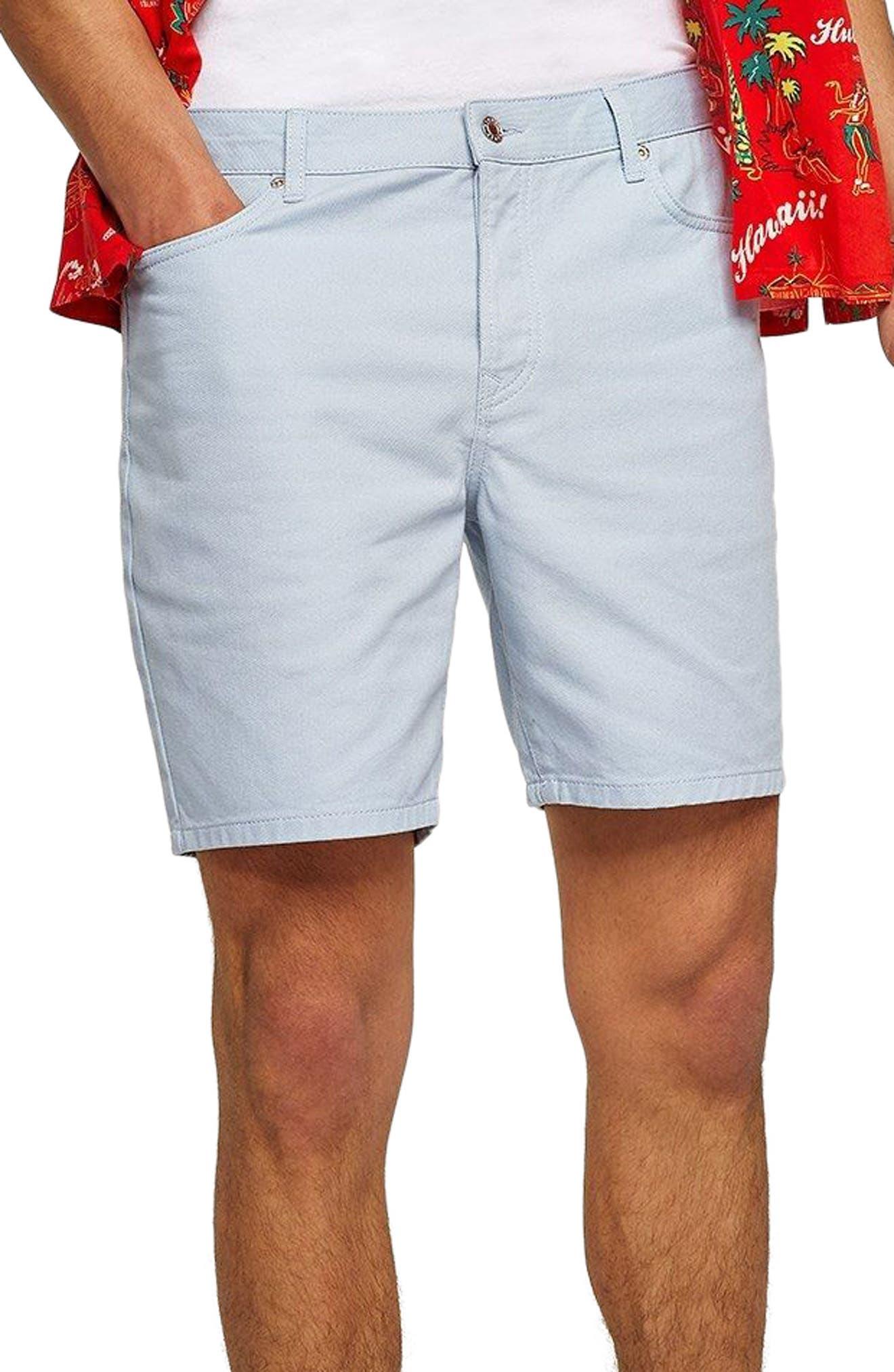Slim Fit Denim Shorts,                         Main,                         color, 400