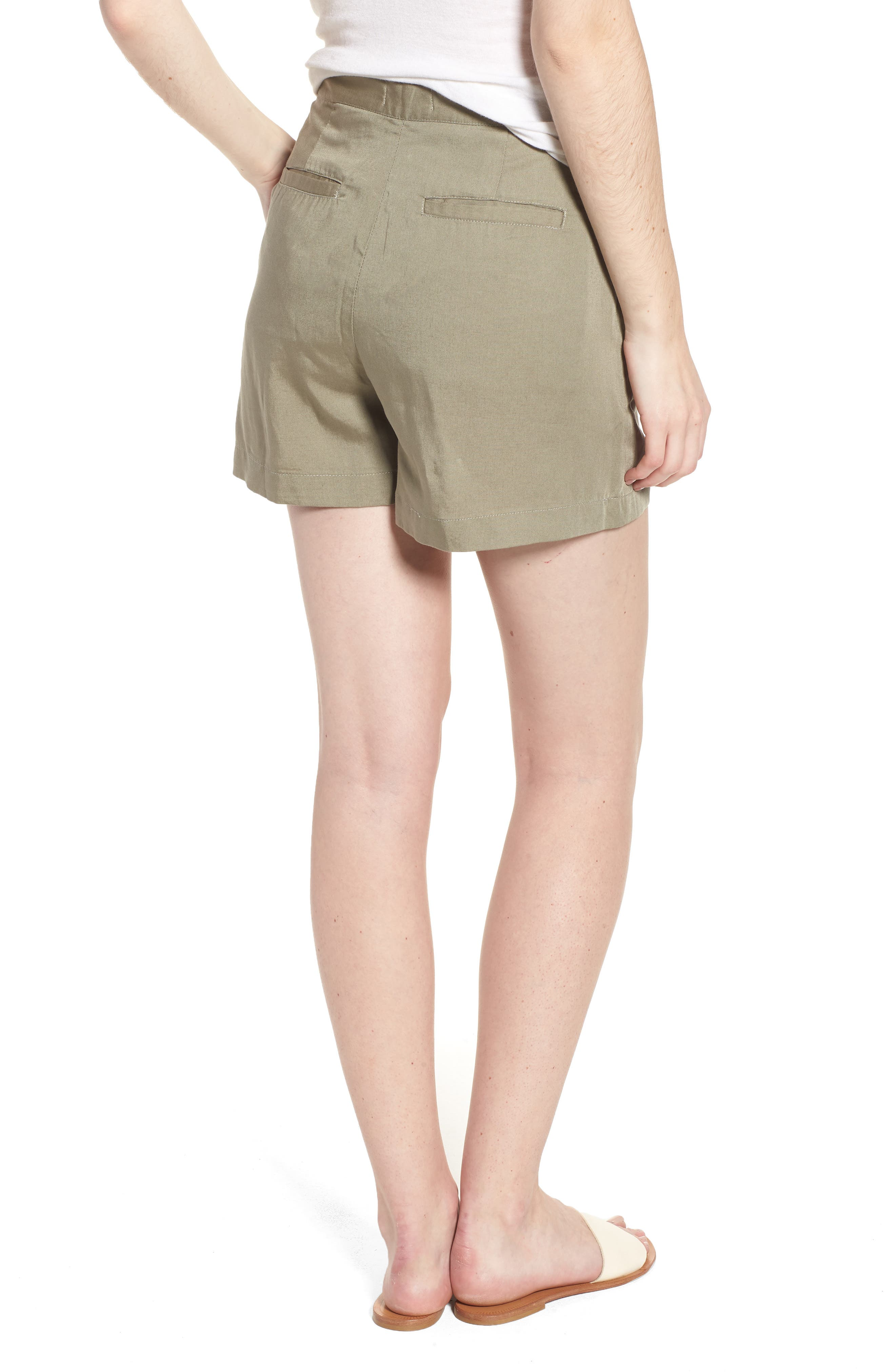 High Waist Shorts,                             Alternate thumbnail 2, color,                             SEA GRASS