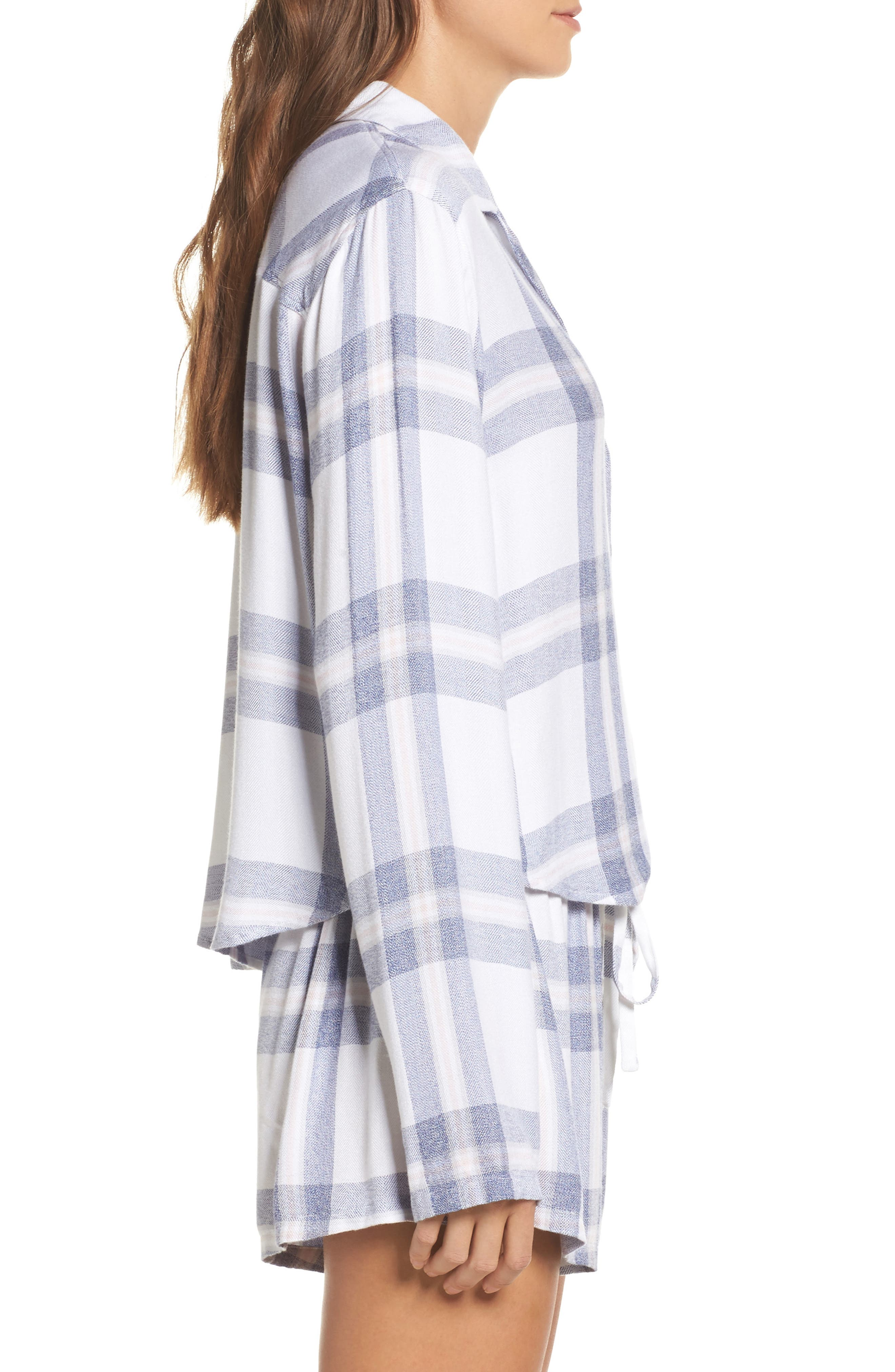Plaid Short Pajamas,                             Alternate thumbnail 3, color,