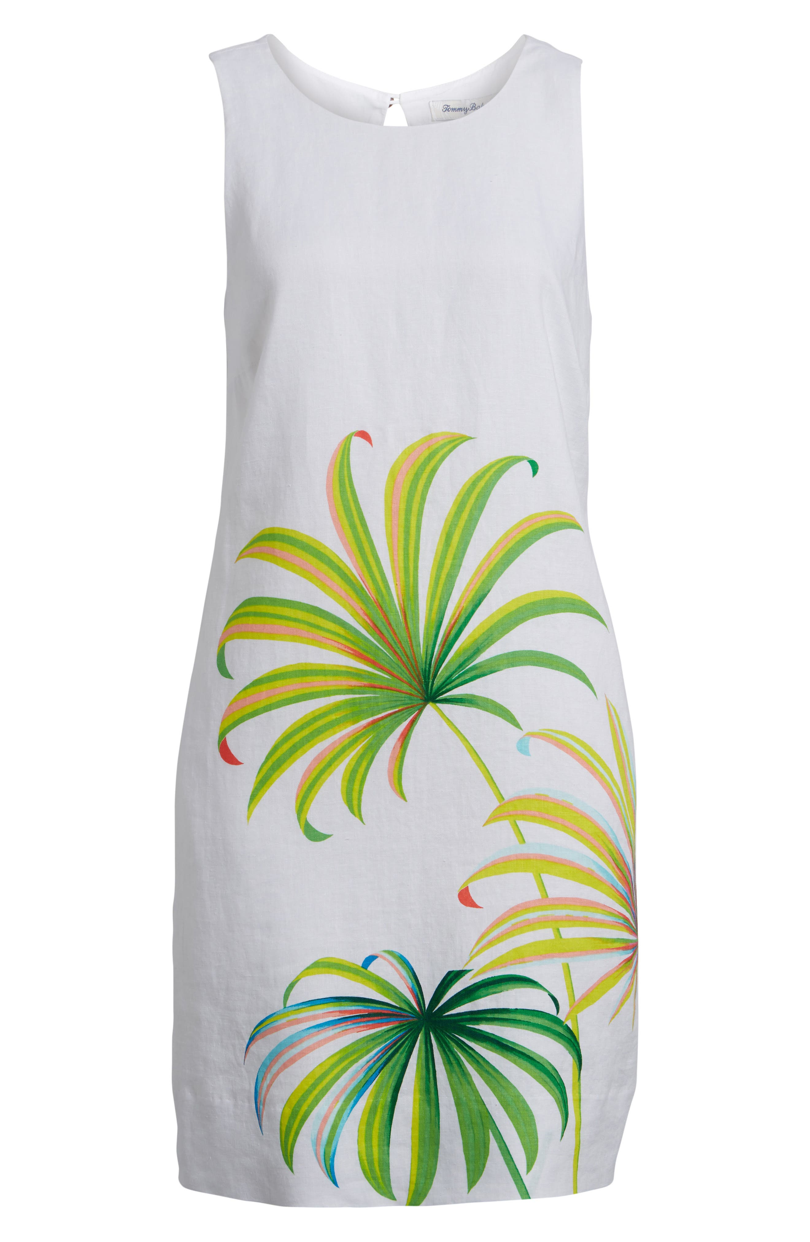 Cricue de Palm Shift Dress,                             Alternate thumbnail 6, color,                             WHITE