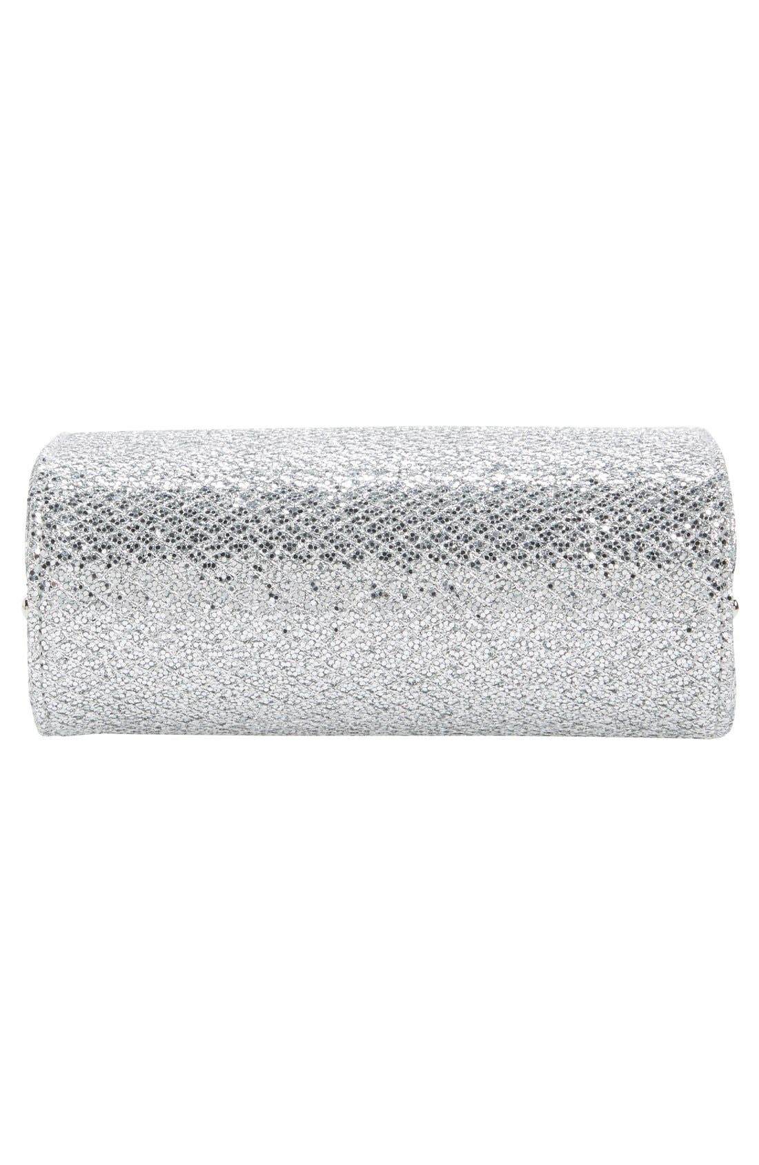 'Cate' Glitter Box Clutch,                             Alternate thumbnail 6, color,                             040