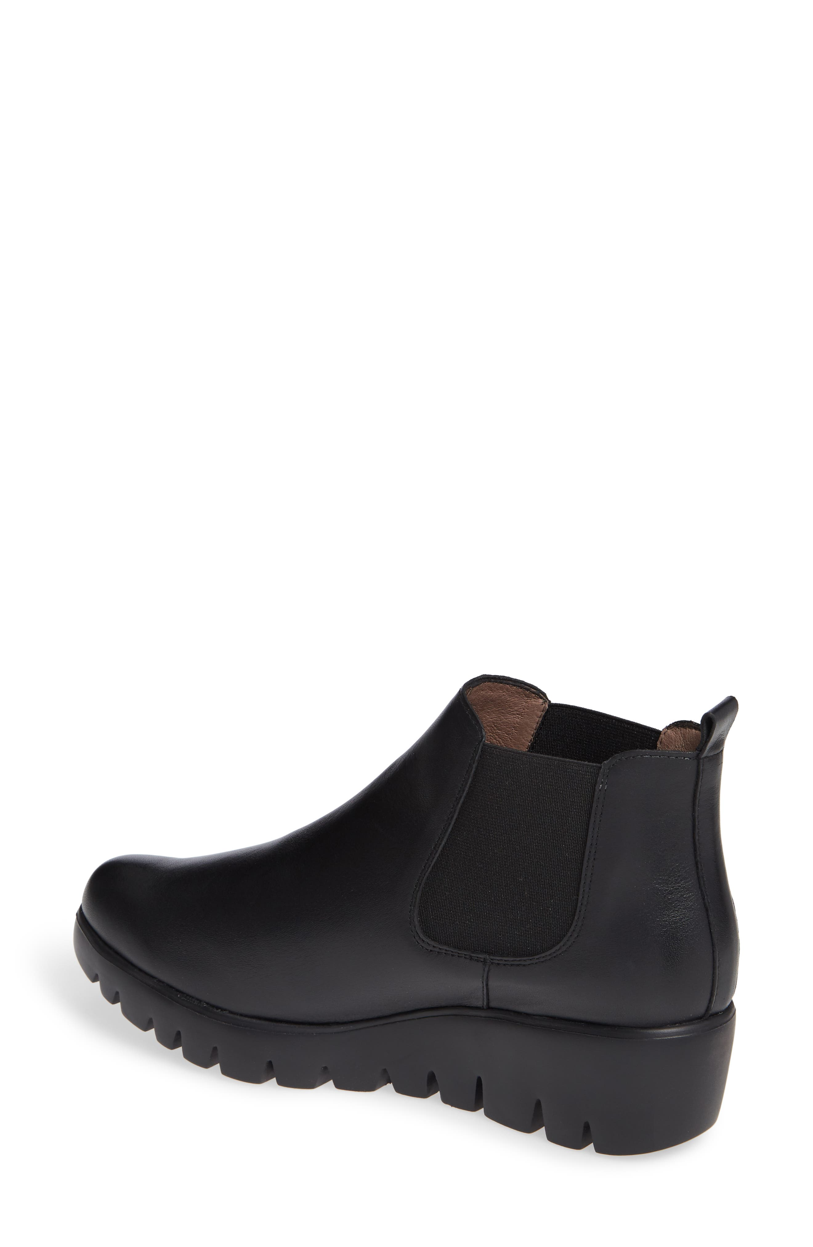 Slip-On Chelsea Boot,                             Alternate thumbnail 2, color,                             BLACK SMOOTH LEATHER