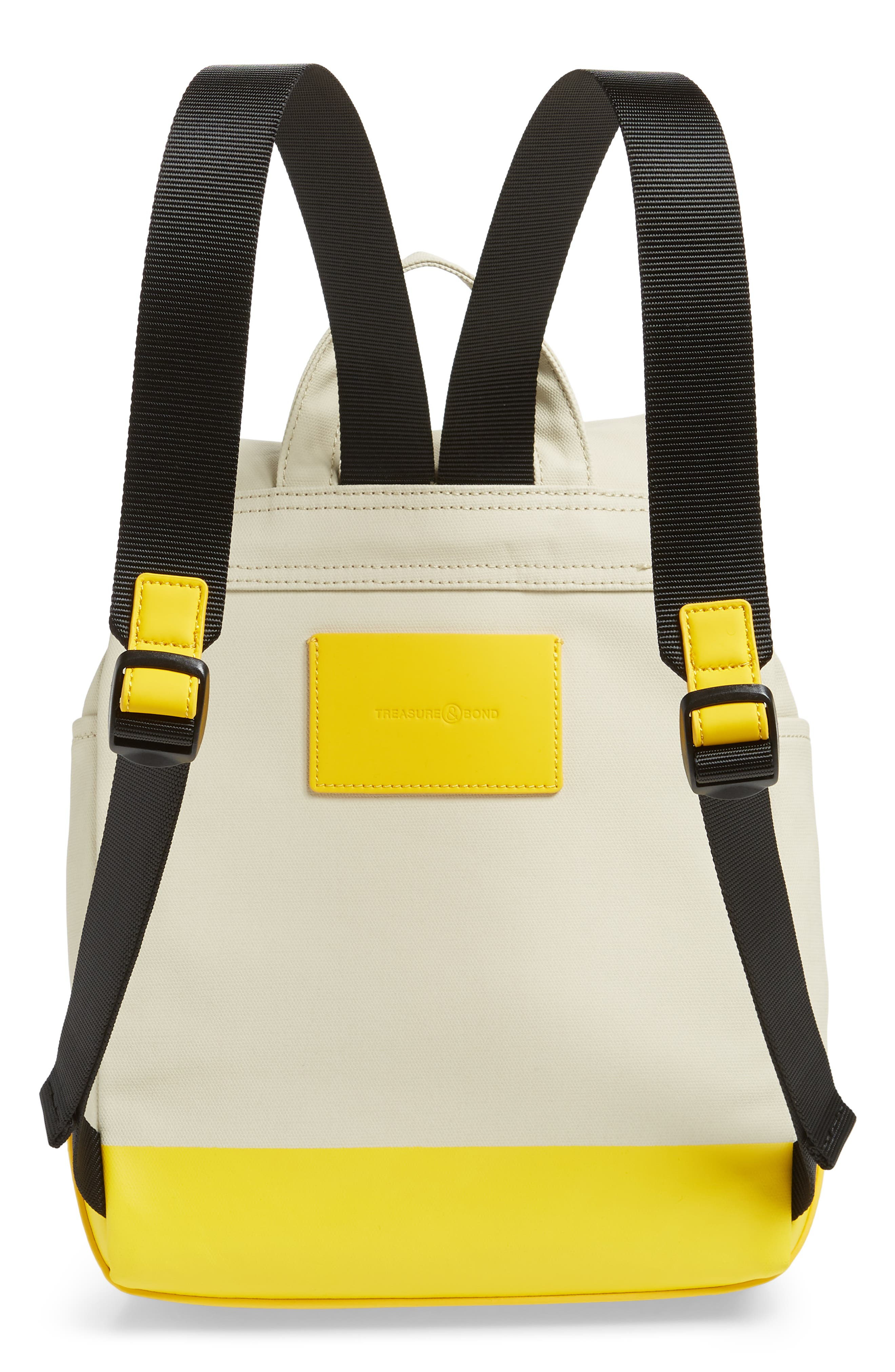 Penny Flap Backpack,                             Alternate thumbnail 3, color,                             IVORY BIRCH/YELLOW