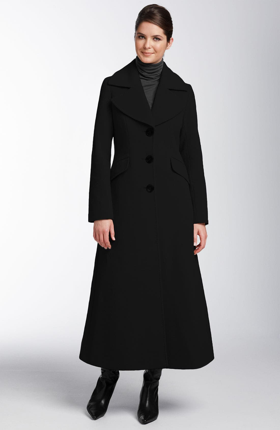 Wool & Cashmere Coat,                             Main thumbnail 1, color,                             001
