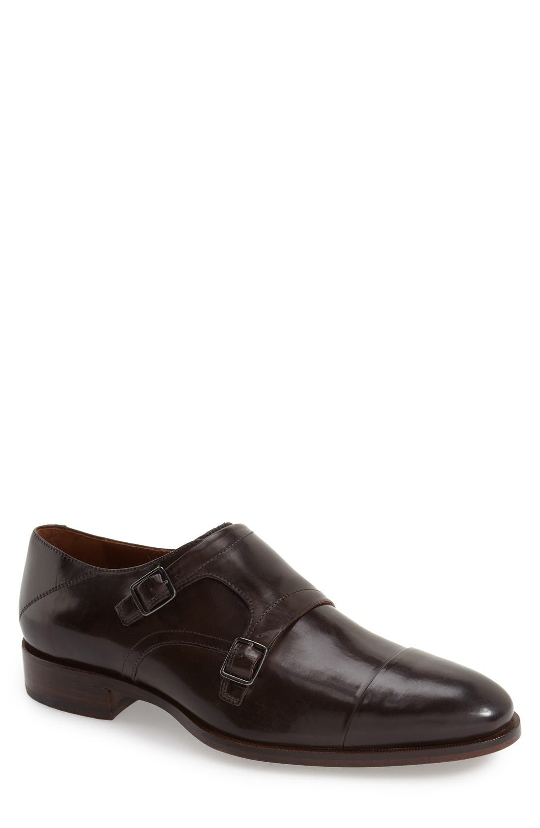 'Nolen' Double Monk Strap Shoe,                             Main thumbnail 1, color,                             020