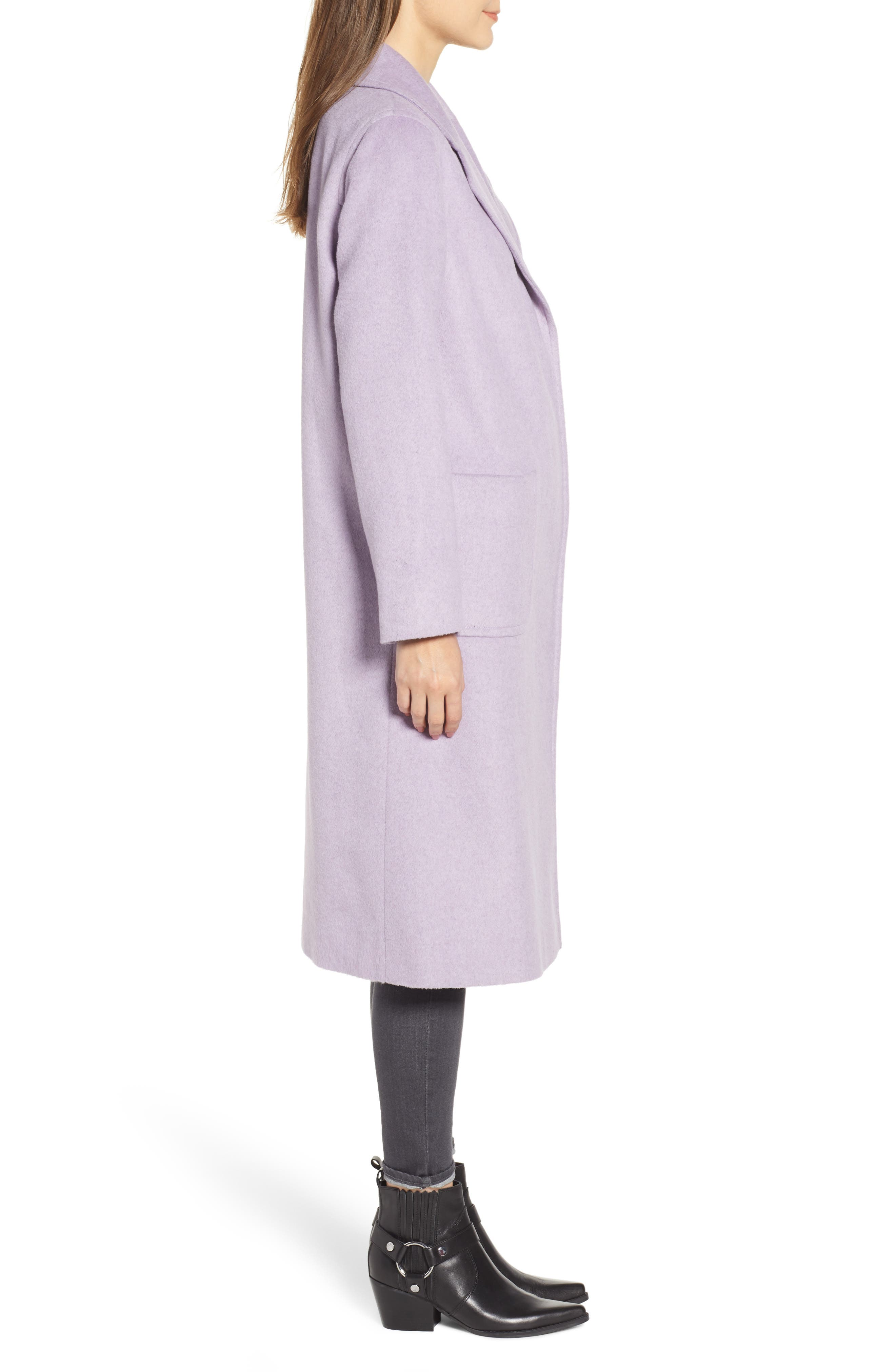 Ruth Knee Length Coat,                             Alternate thumbnail 3, color,                             500