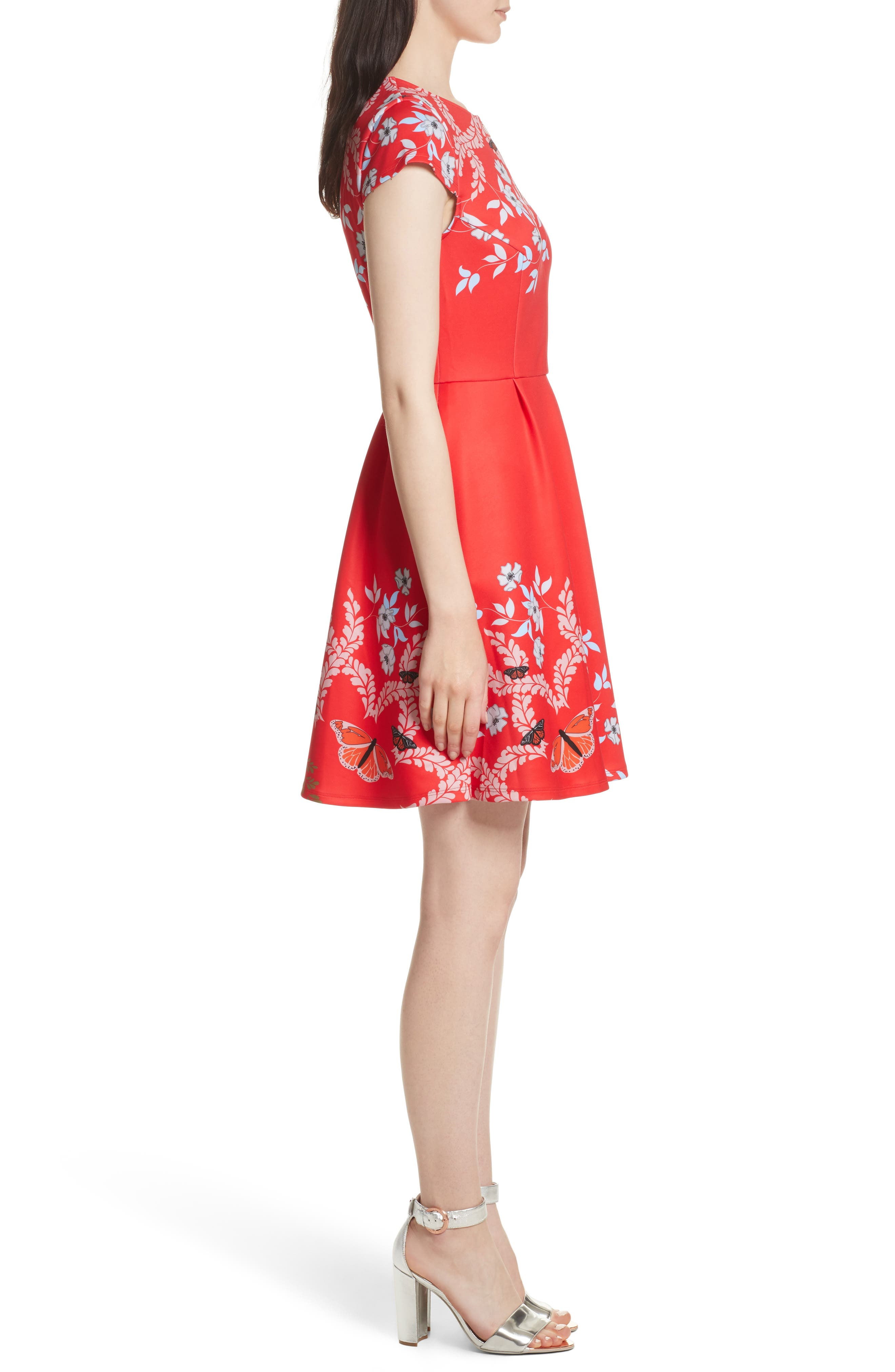 Saydi Kyoto Skater Dress,                             Alternate thumbnail 3, color,