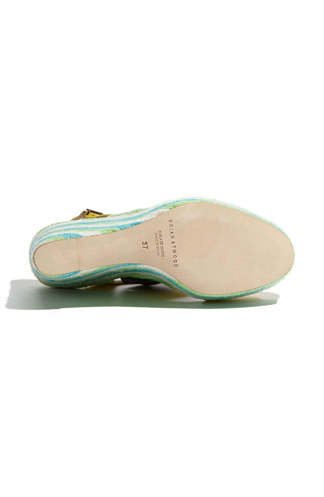 'Ariane' Espadrille Wedge Sandal,                             Alternate thumbnail 4, color,