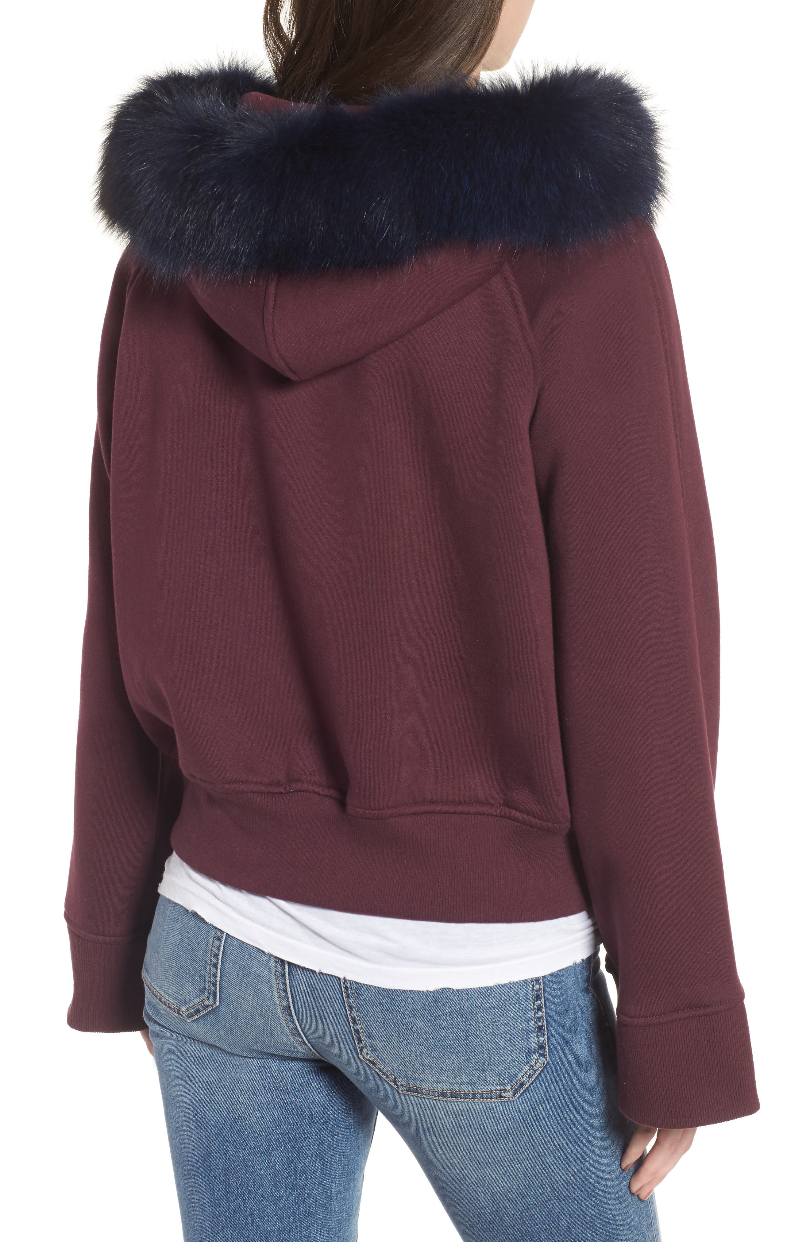 BAGATELLE.CITY The Luxe Hooded Jacket with Genuine Fox Fur Trim,                             Alternate thumbnail 6, color,