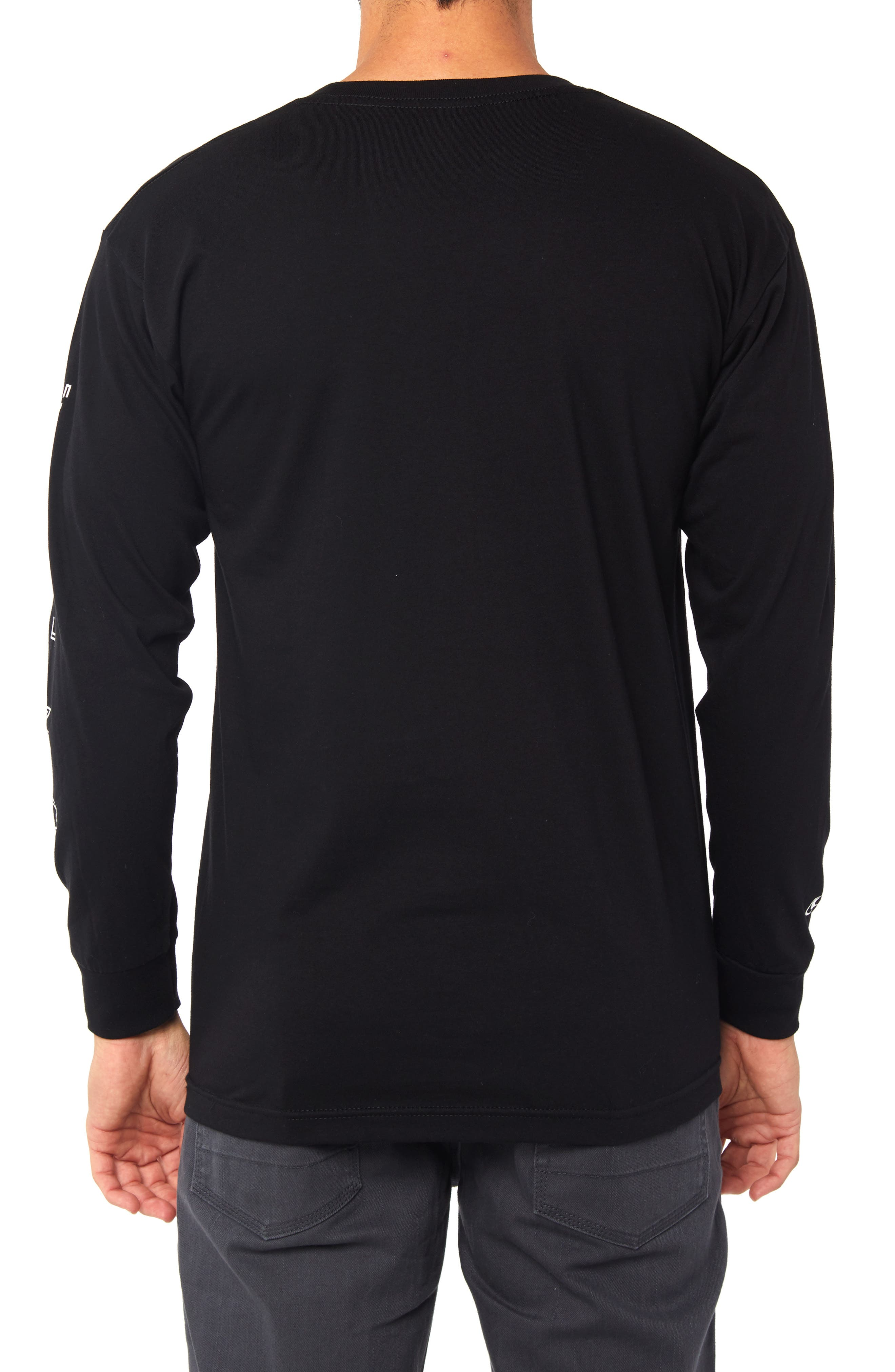 Spaced Out Graphic Long Sleeve T-Shirt,                             Alternate thumbnail 2, color,                             BLACK