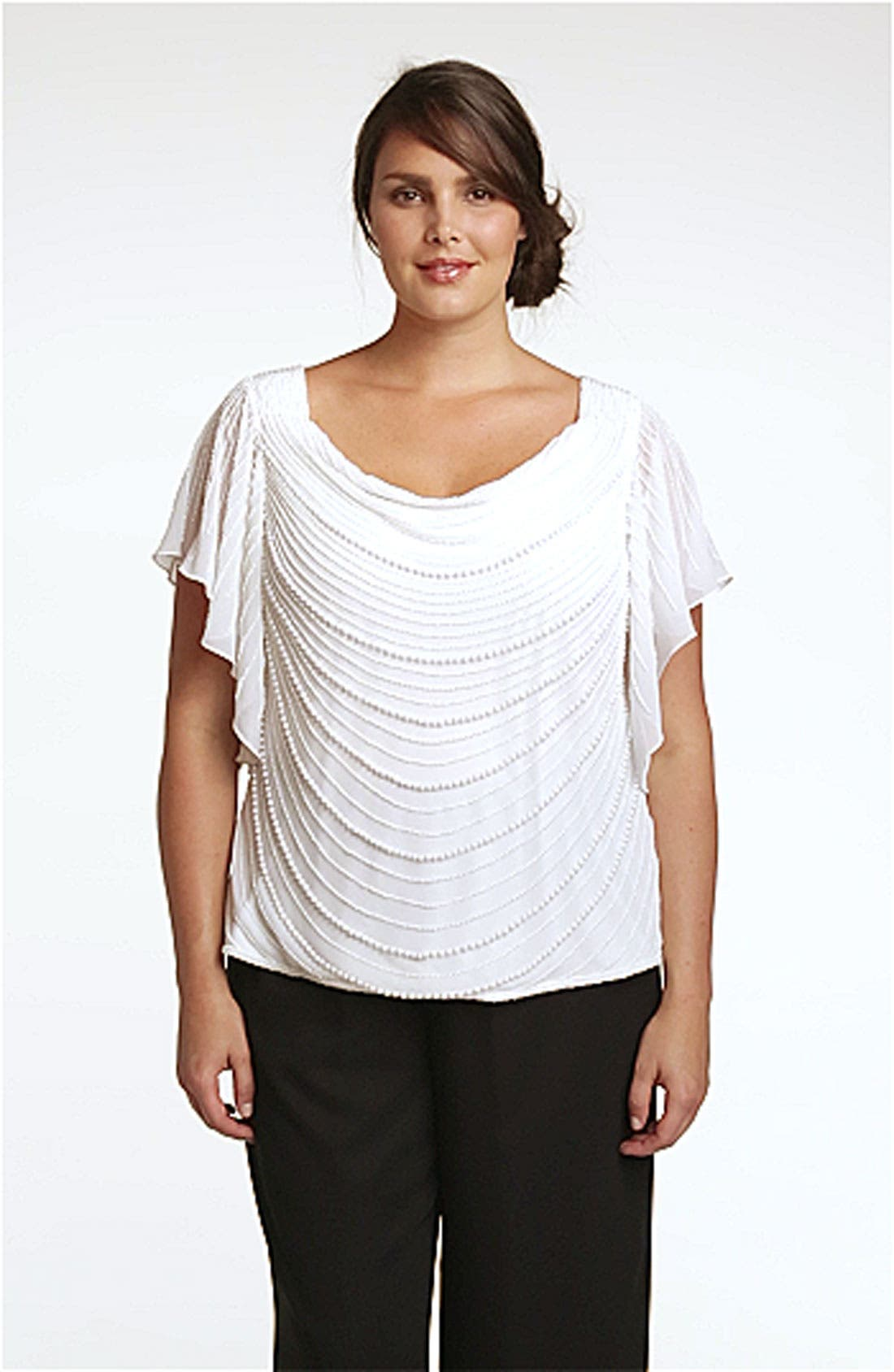 Pearl Embellished Top,                             Alternate thumbnail 3, color,                             900