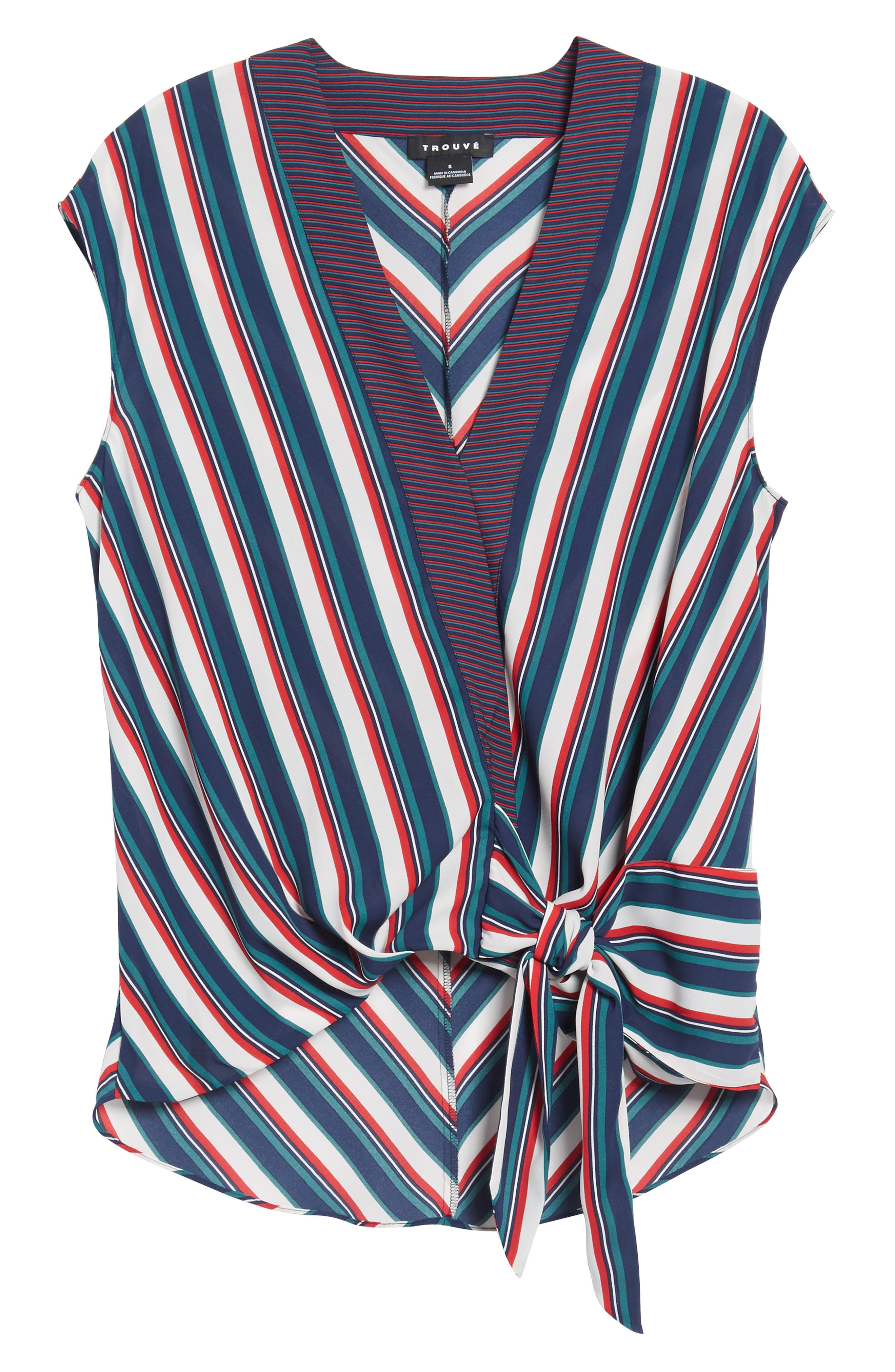 Stripe Wrap Top,                             Alternate thumbnail 12, color,