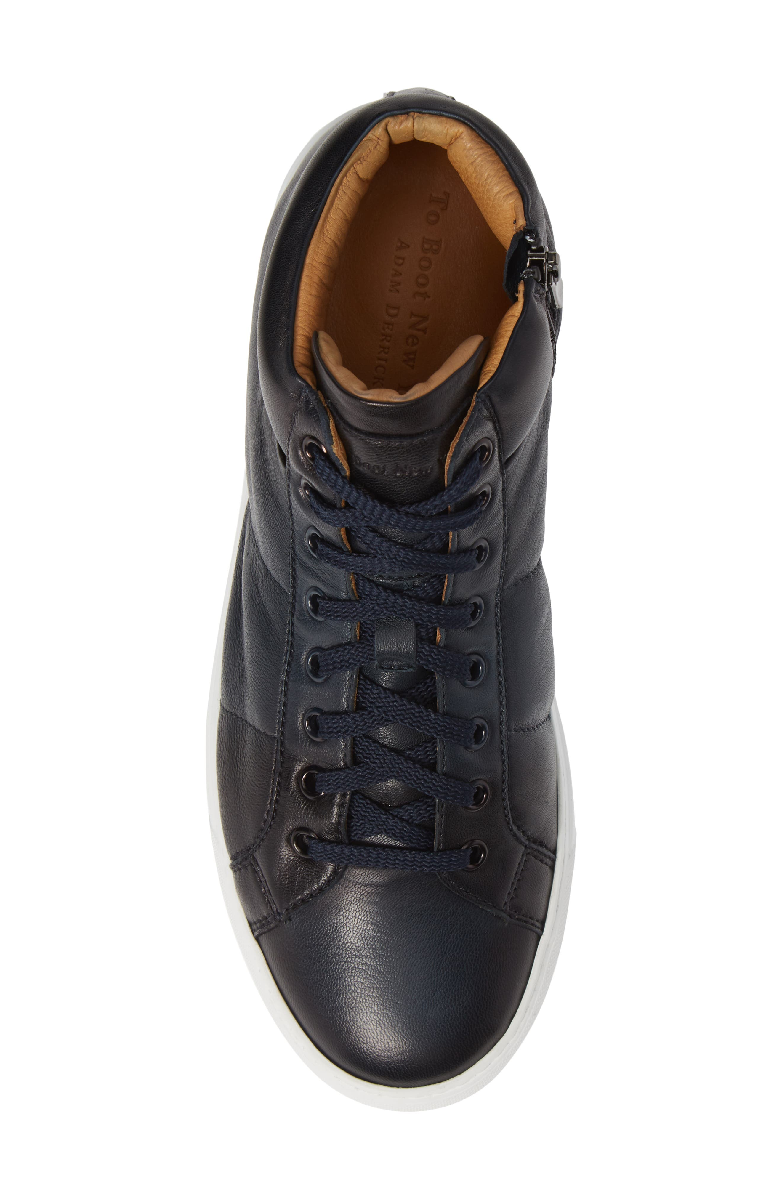 Rayburn Mid Top Sneaker,                             Alternate thumbnail 5, color,                             NAVY LEATHER