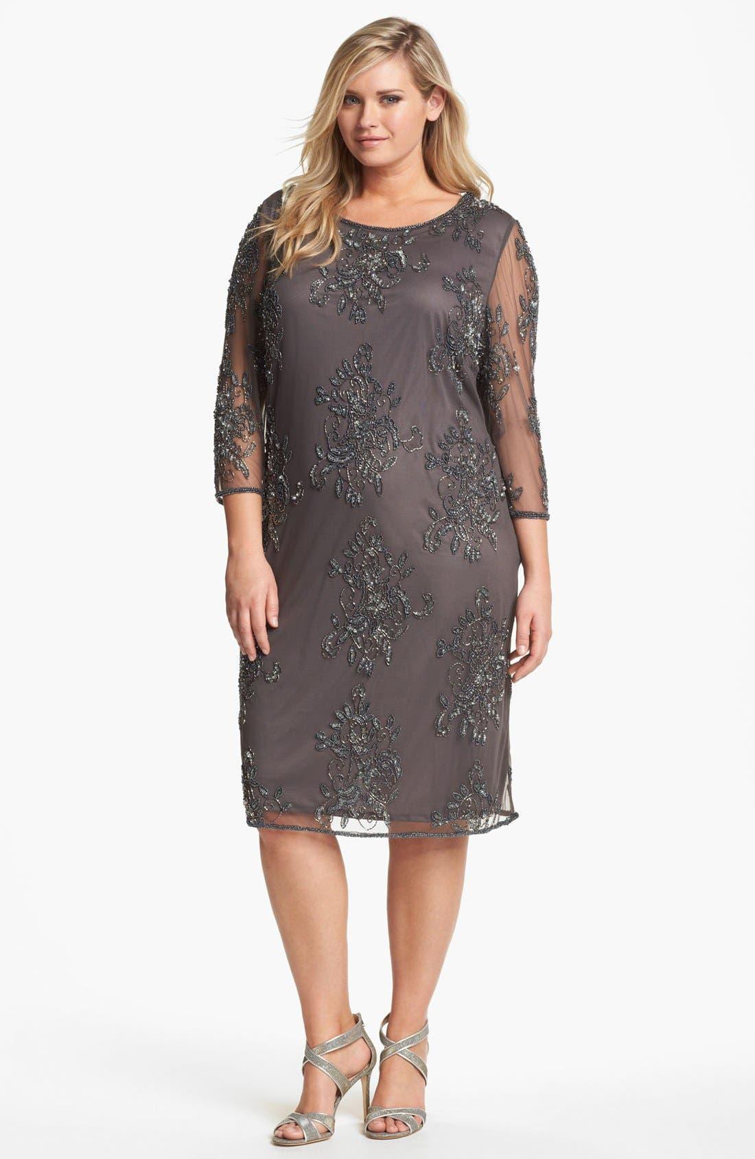Embellished Tulle Dress,                         Main,                         color, 020