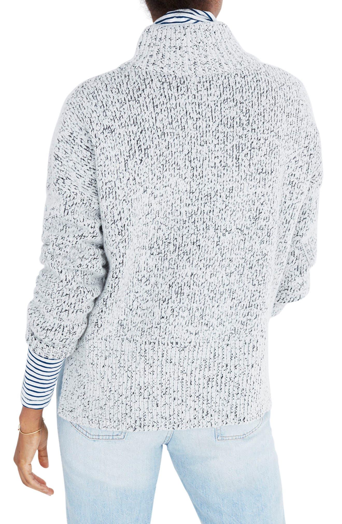 Marled Half Zip Sweater,                             Alternate thumbnail 2, color,                             020