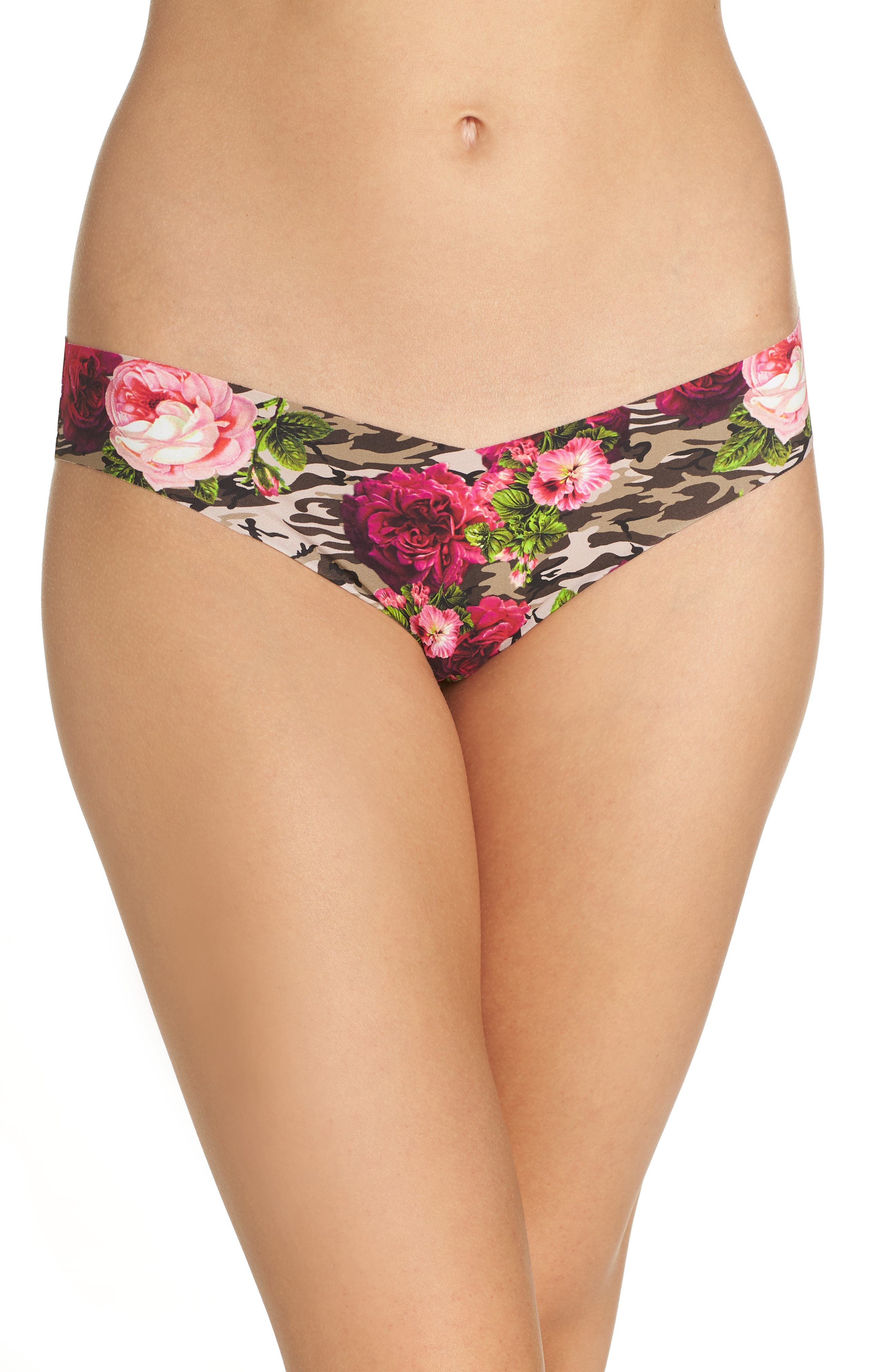 Print Microfiber Thong,                             Main thumbnail 30, color,
