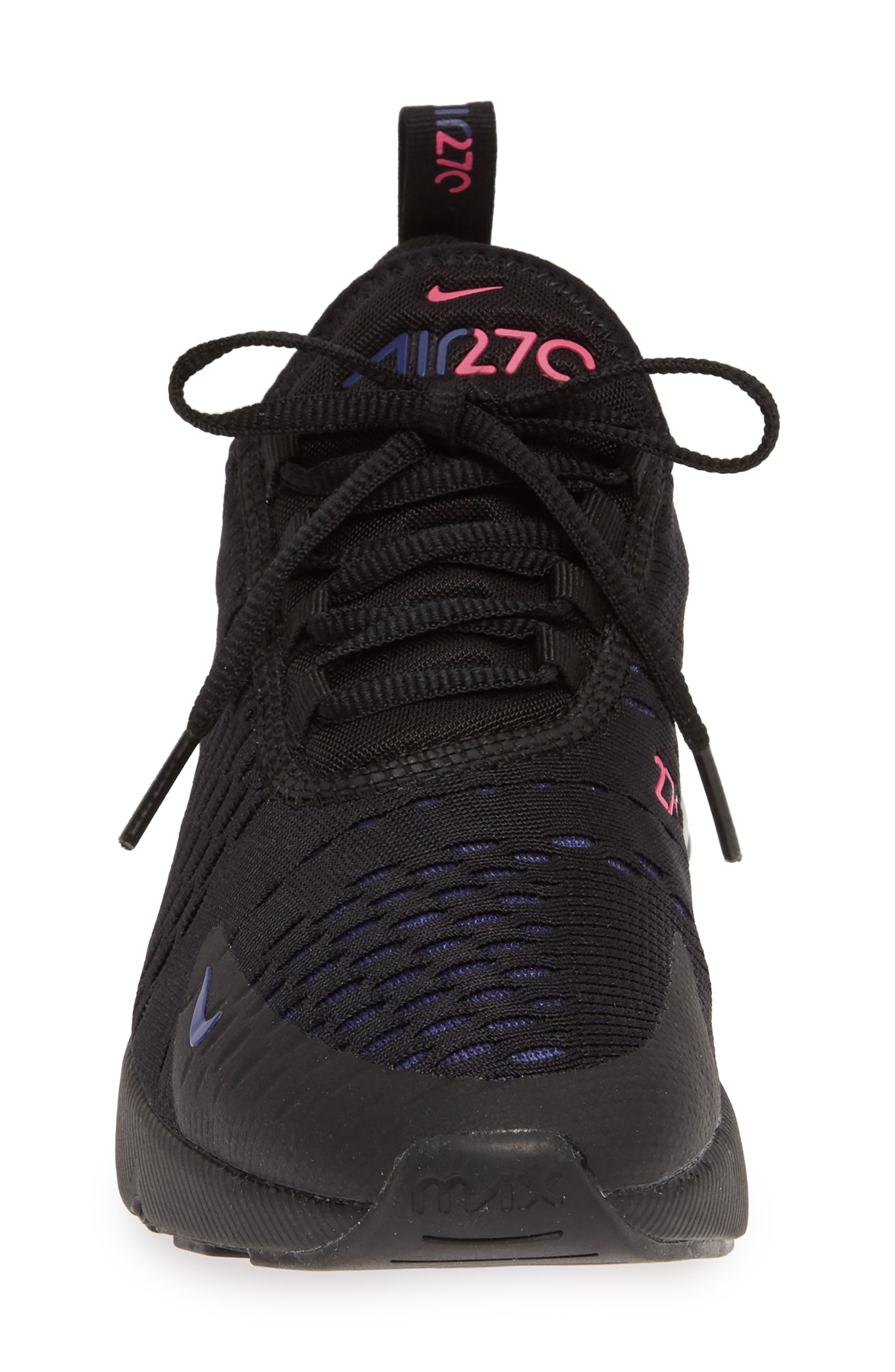 NIKE,                             Air Max 270 Premium Sneaker,                             Alternate thumbnail 4, color,                             BLACK/ FUCHSIA/ PURPLE