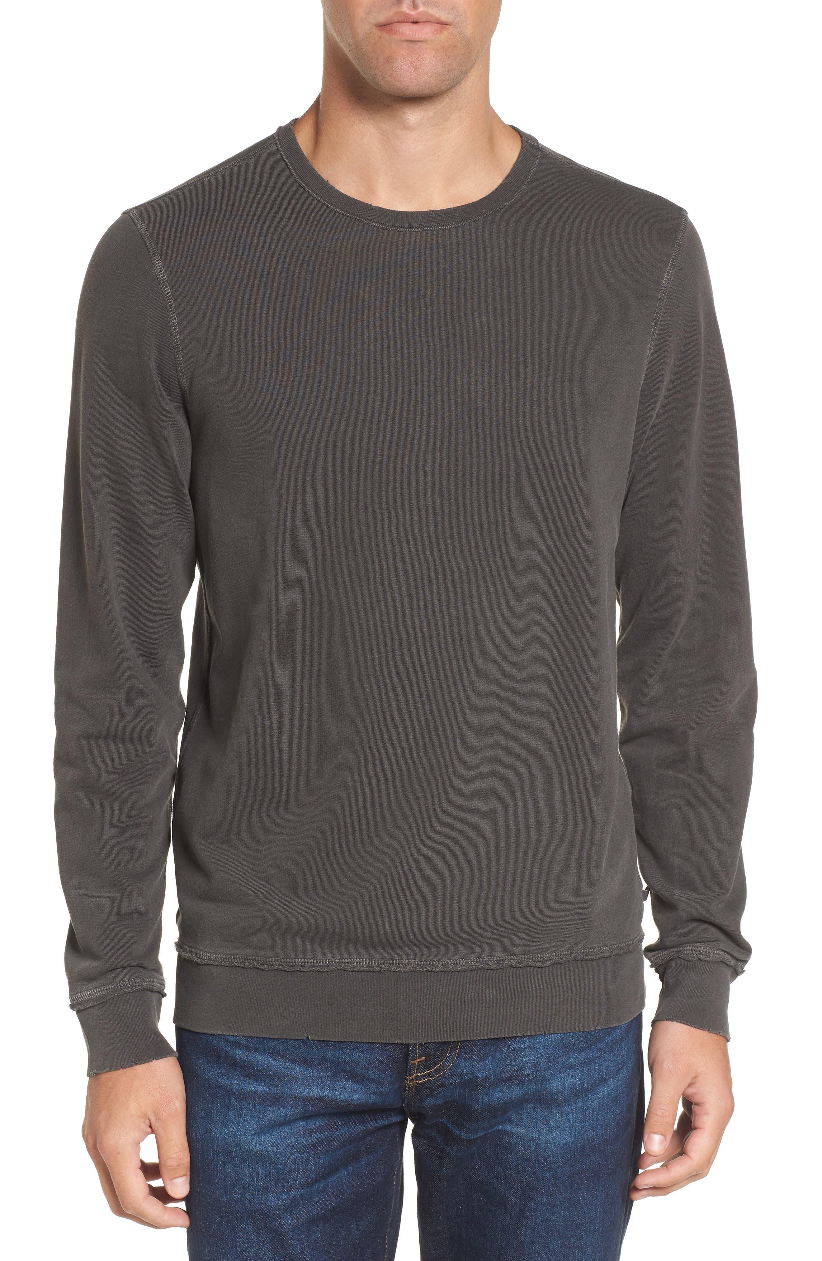 Brendan Raw Edge Crewneck Sweatshirt,                         Main,                         color, 001