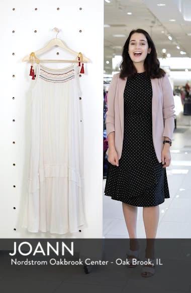 Embroidered Gauze Midi Dress, sales video thumbnail