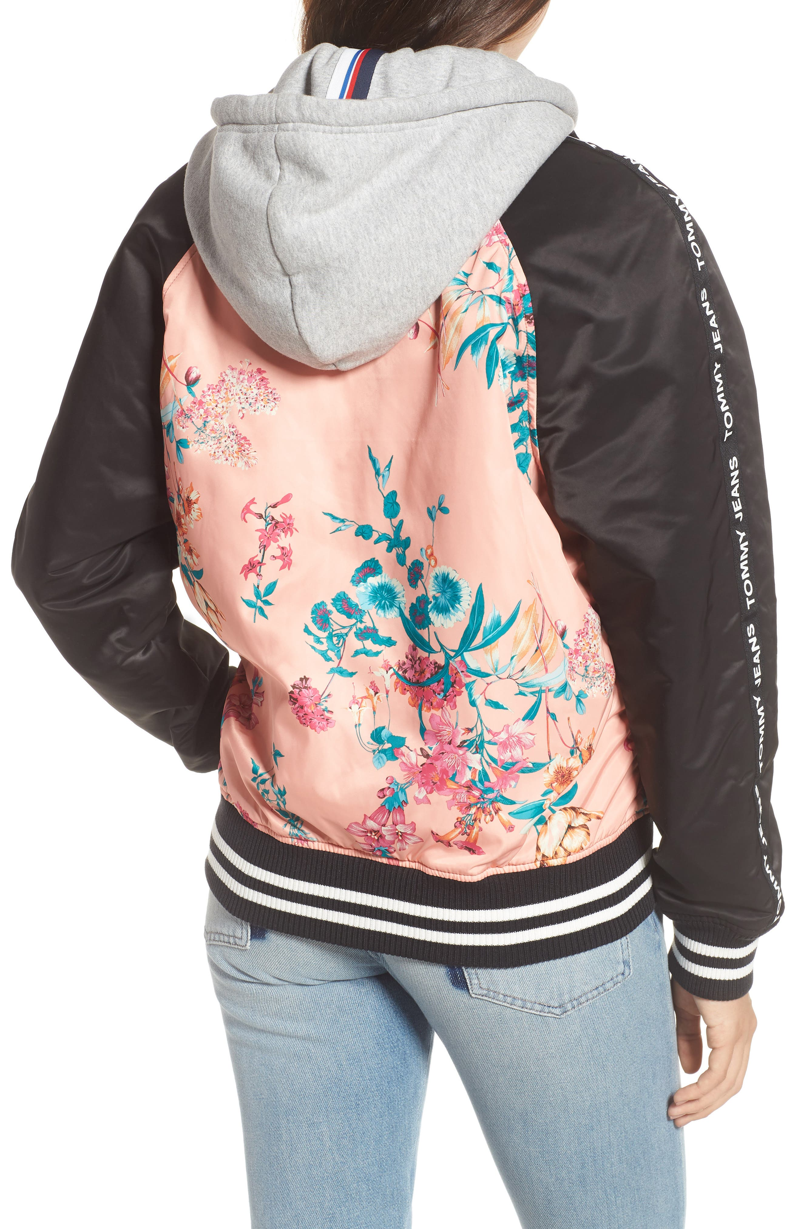 Reversible Floral Bomber Jacket,                             Alternate thumbnail 3, color,
