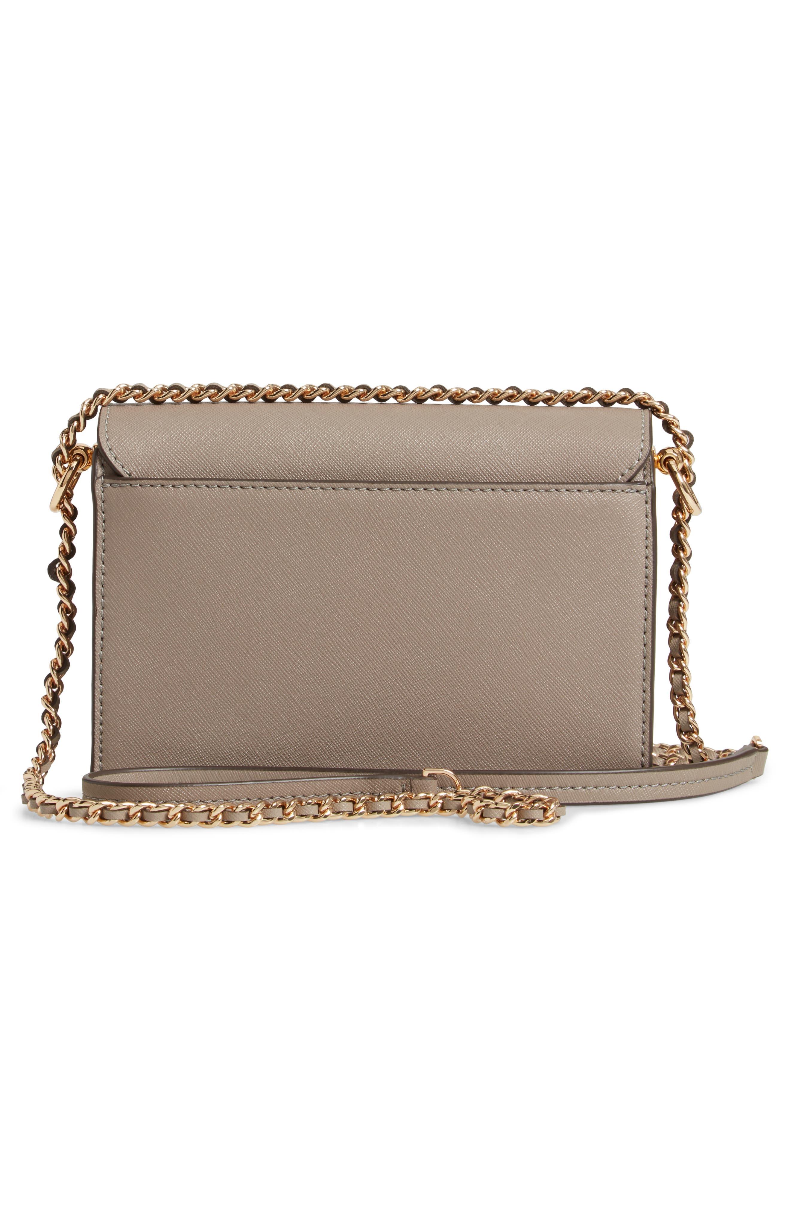 Mini Robinson Convertible Leather Shoulder Bag,                             Alternate thumbnail 3, color,                             GRAY HERON
