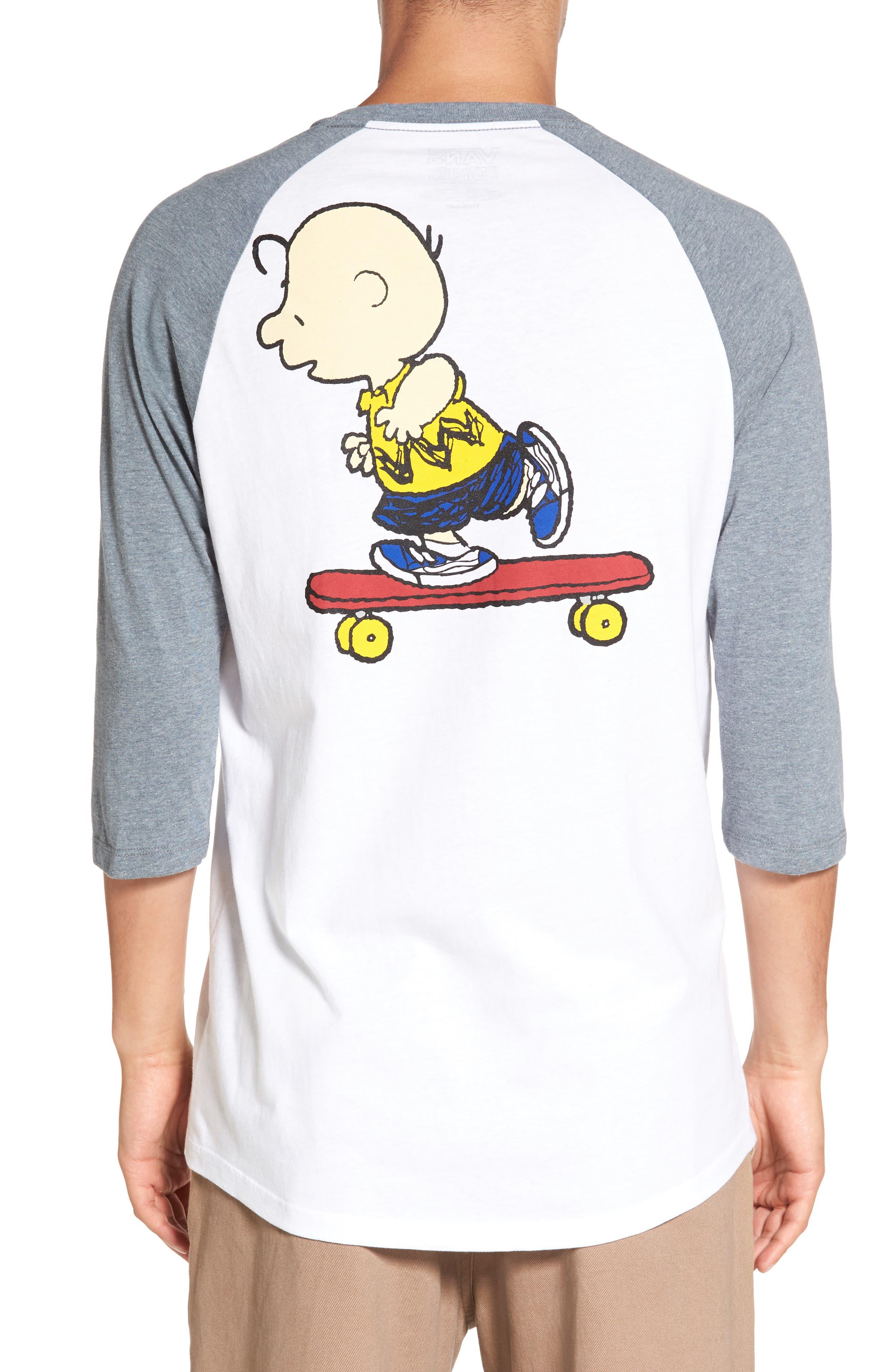 x Peanuts Graphic Raglan T-Shirt,                             Alternate thumbnail 2, color,                             100