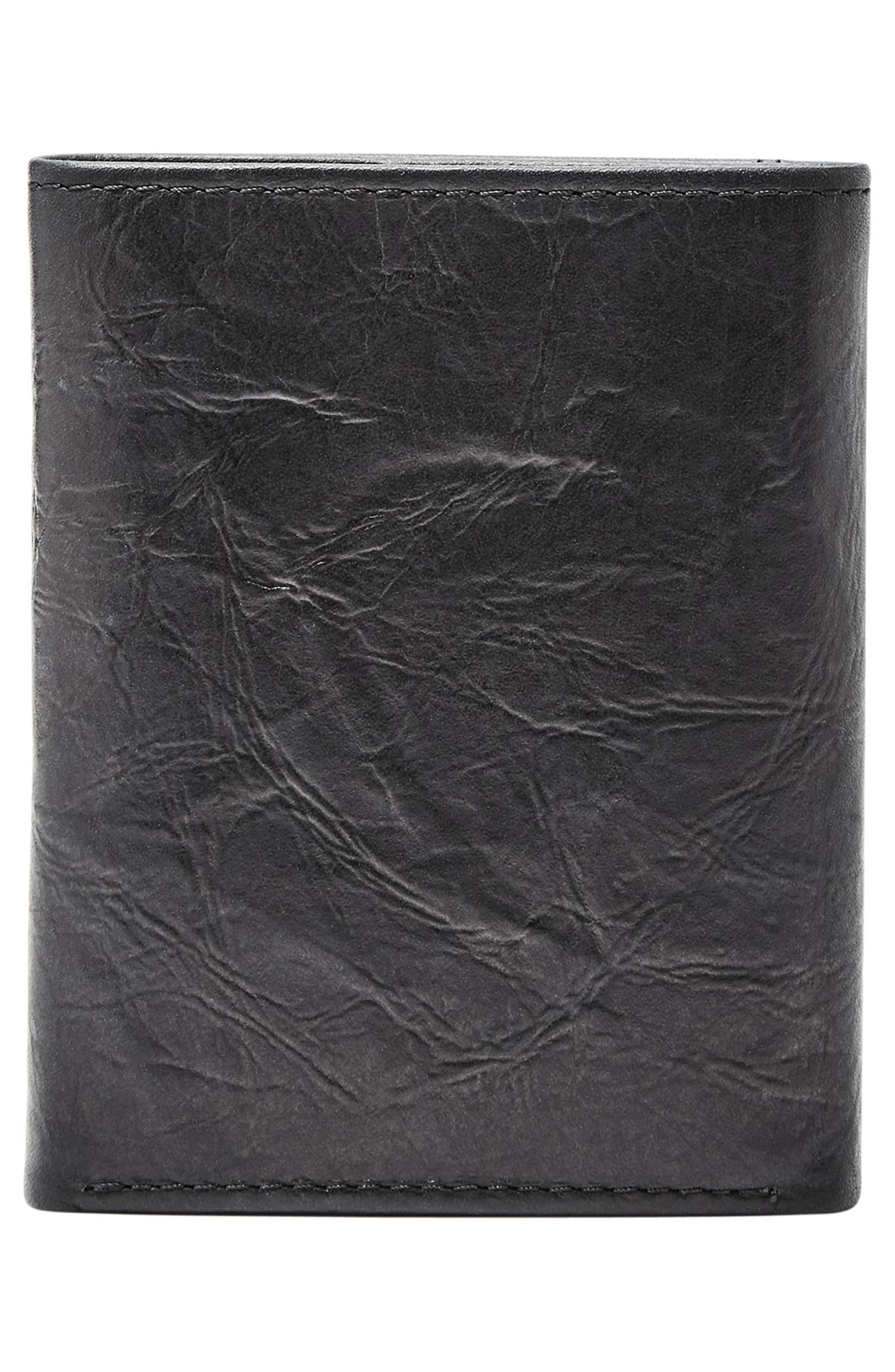 Neel Leather Wallet,                             Alternate thumbnail 4, color,                             BLACK