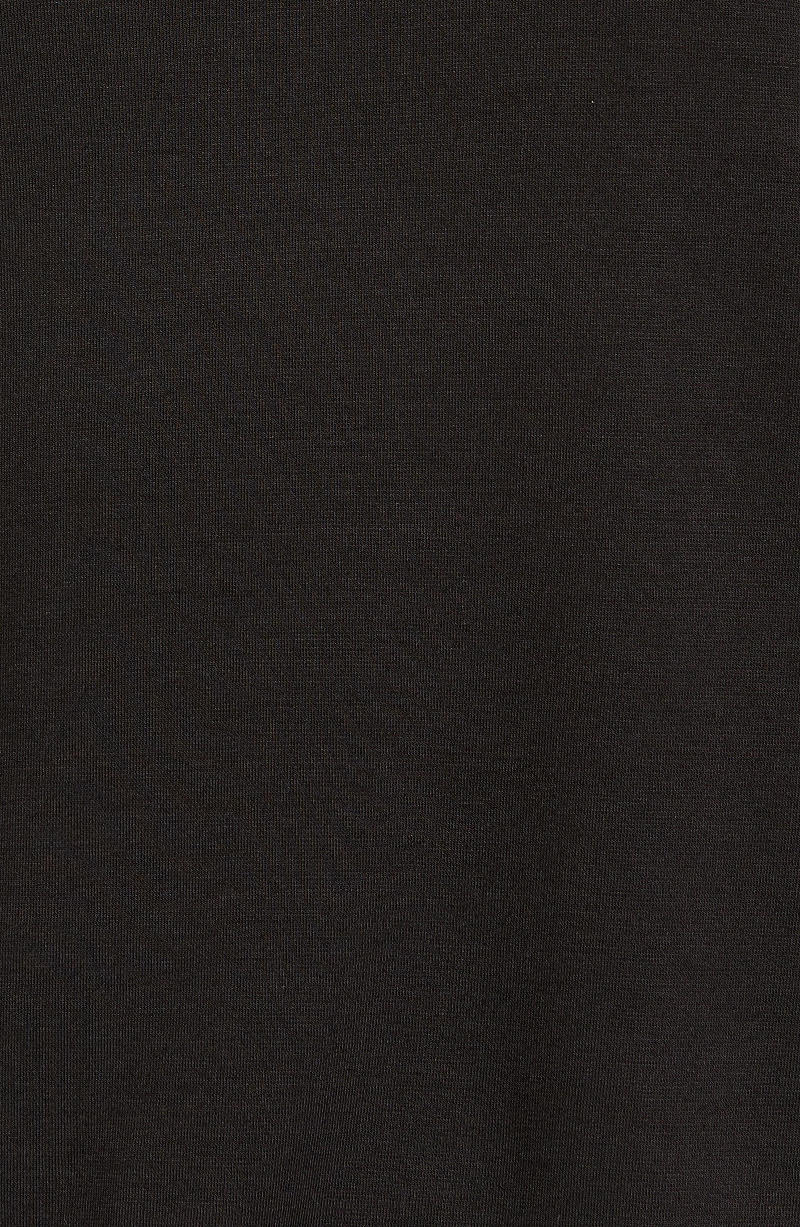 Mesh Bishop Sleeve Ponte Top,                             Alternate thumbnail 5, color,                             001