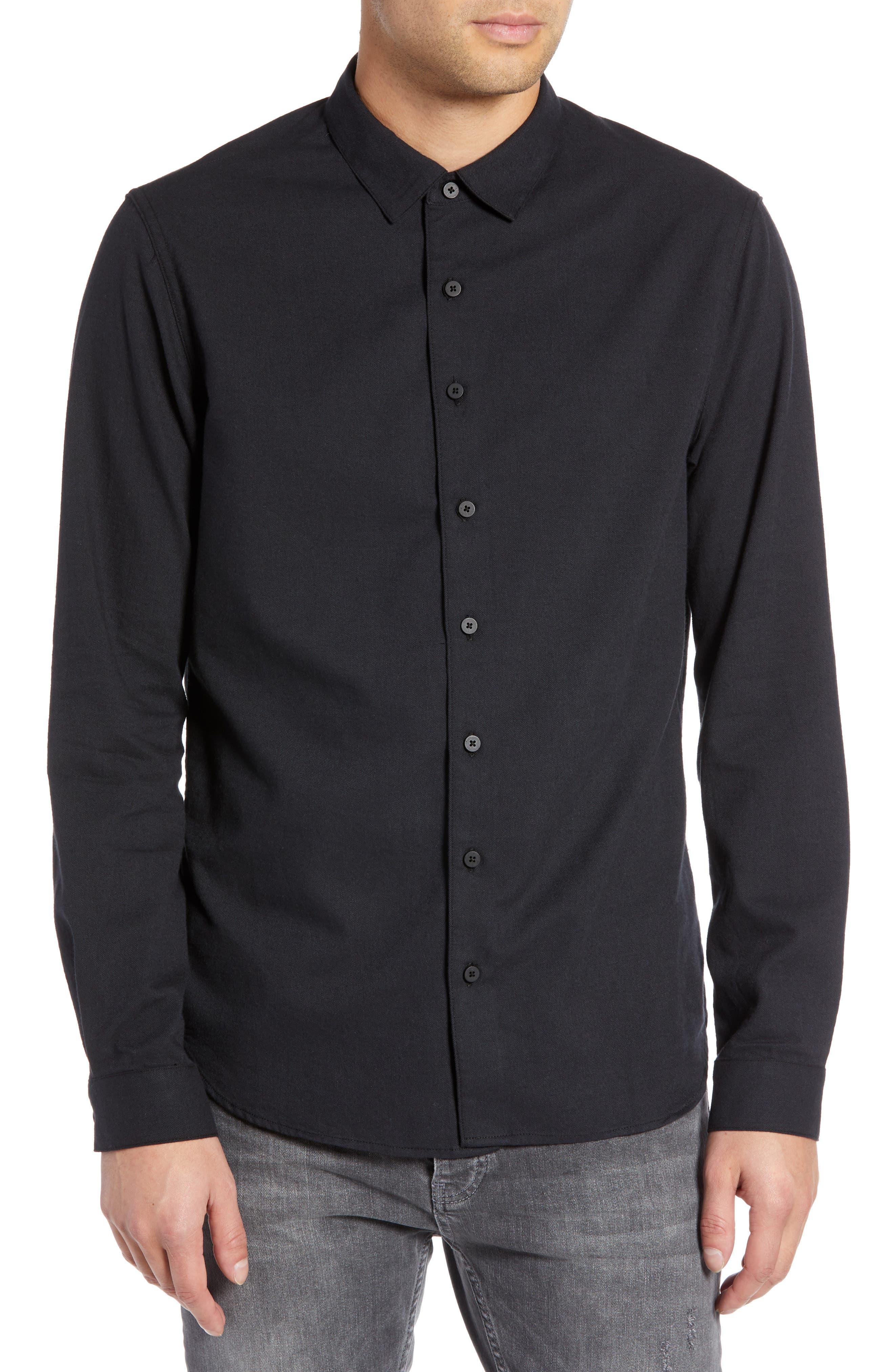 Officer Sport Shirt,                         Main,                         color, MIDNIGHT